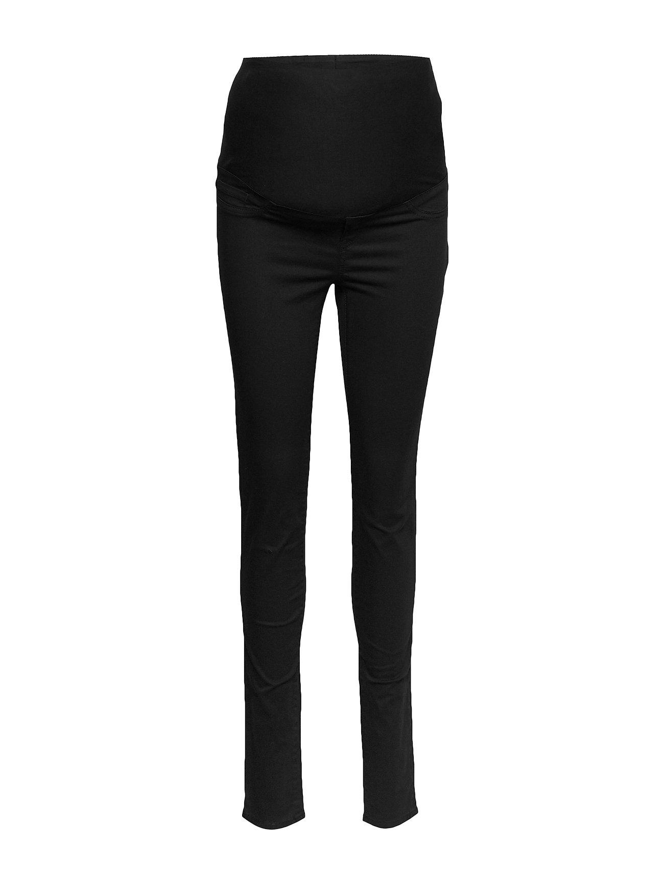 Lindex Trousers MOM Slim black - BLACK