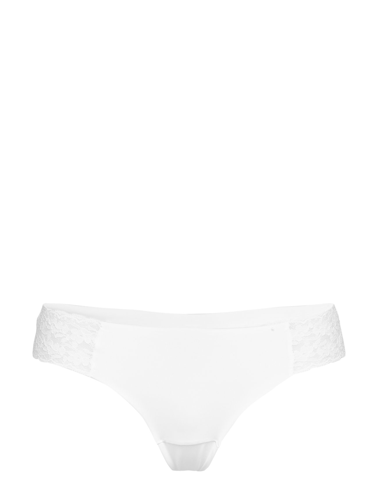 Brief Lace Invisible Thong Low G-streng Undertøj Hvid Lindex