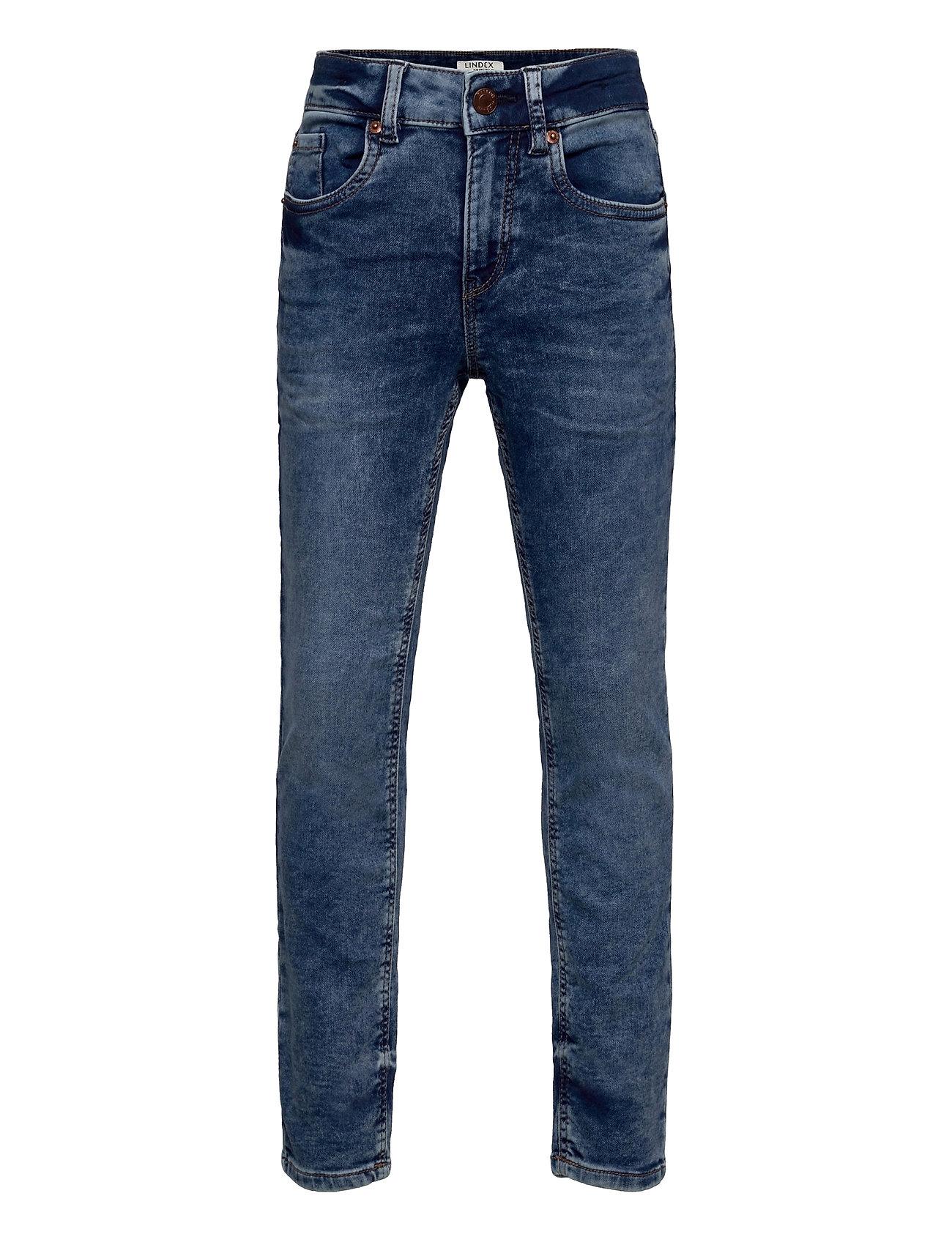 Trousers Denim Jersey Sture Re Jeans Blå Lindex