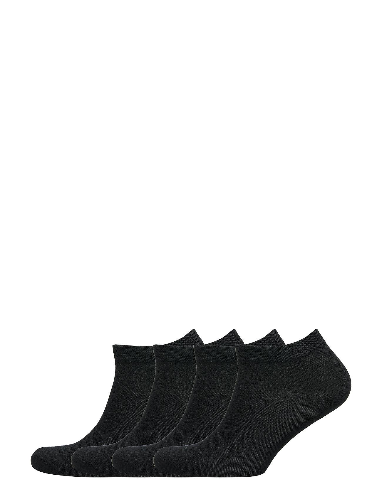 Image of Footies 4 P Basic Pique Lingerie Socks Footies/Ankle Socks Sort Lindex (3461329455)