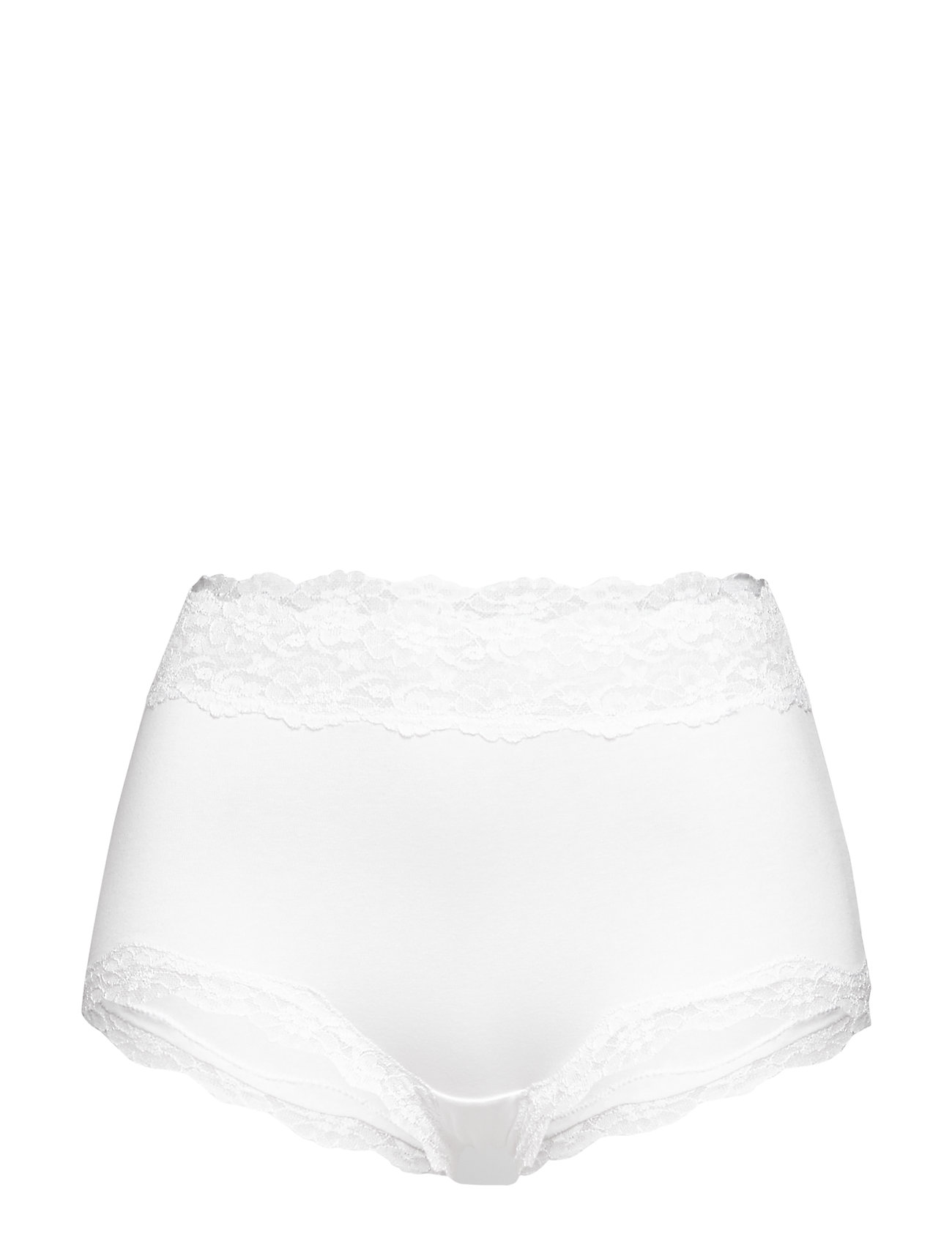 Lindex Brief Pure lace Classic high - WHITE