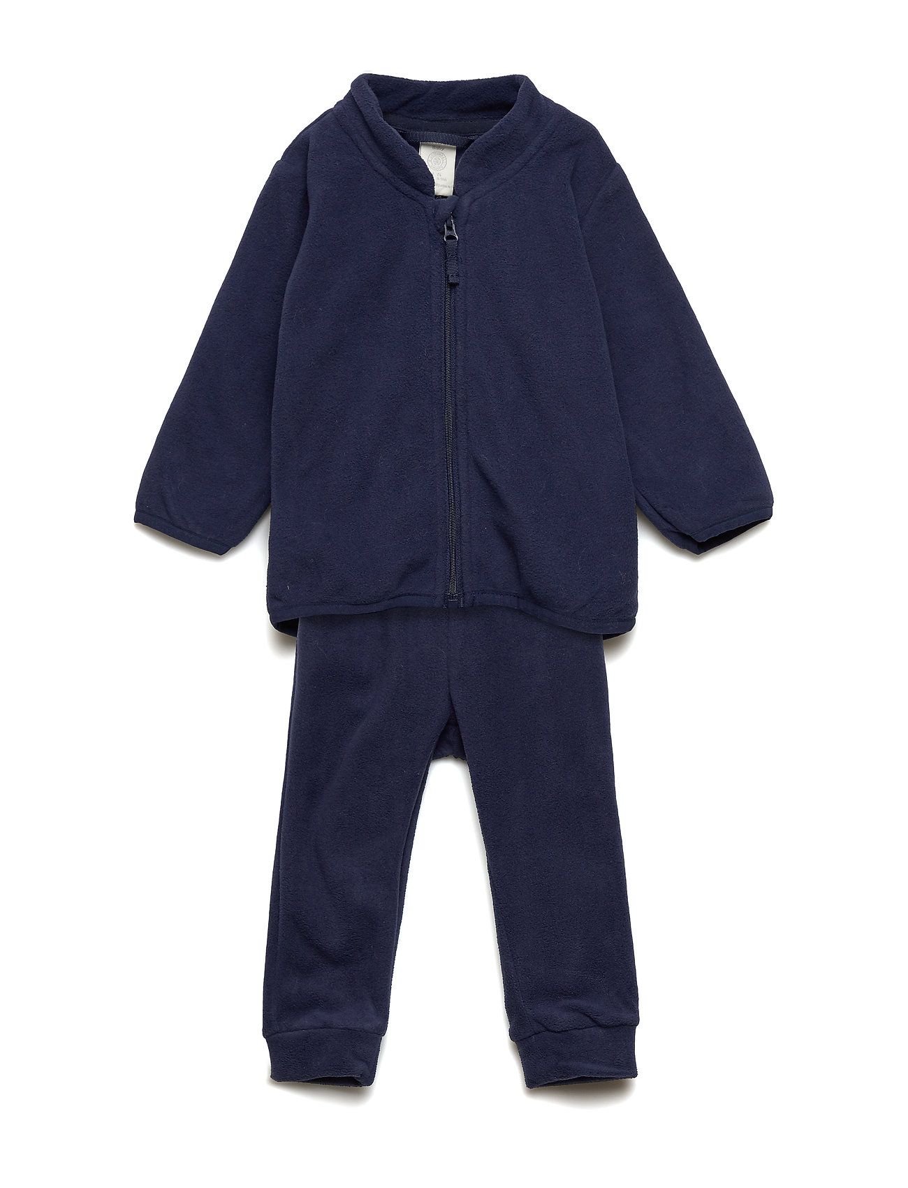 Lindex Set fleece jacket and trouser - DARK BLUE