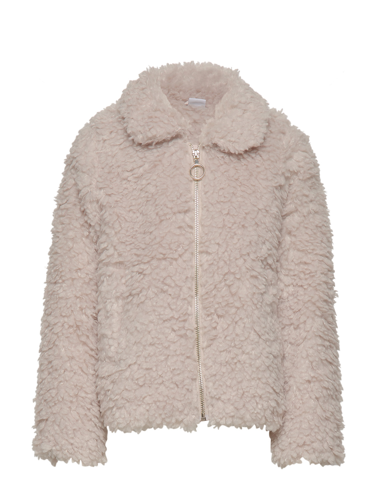 Lindex Beige pile jacket - LIGHT BEIGE