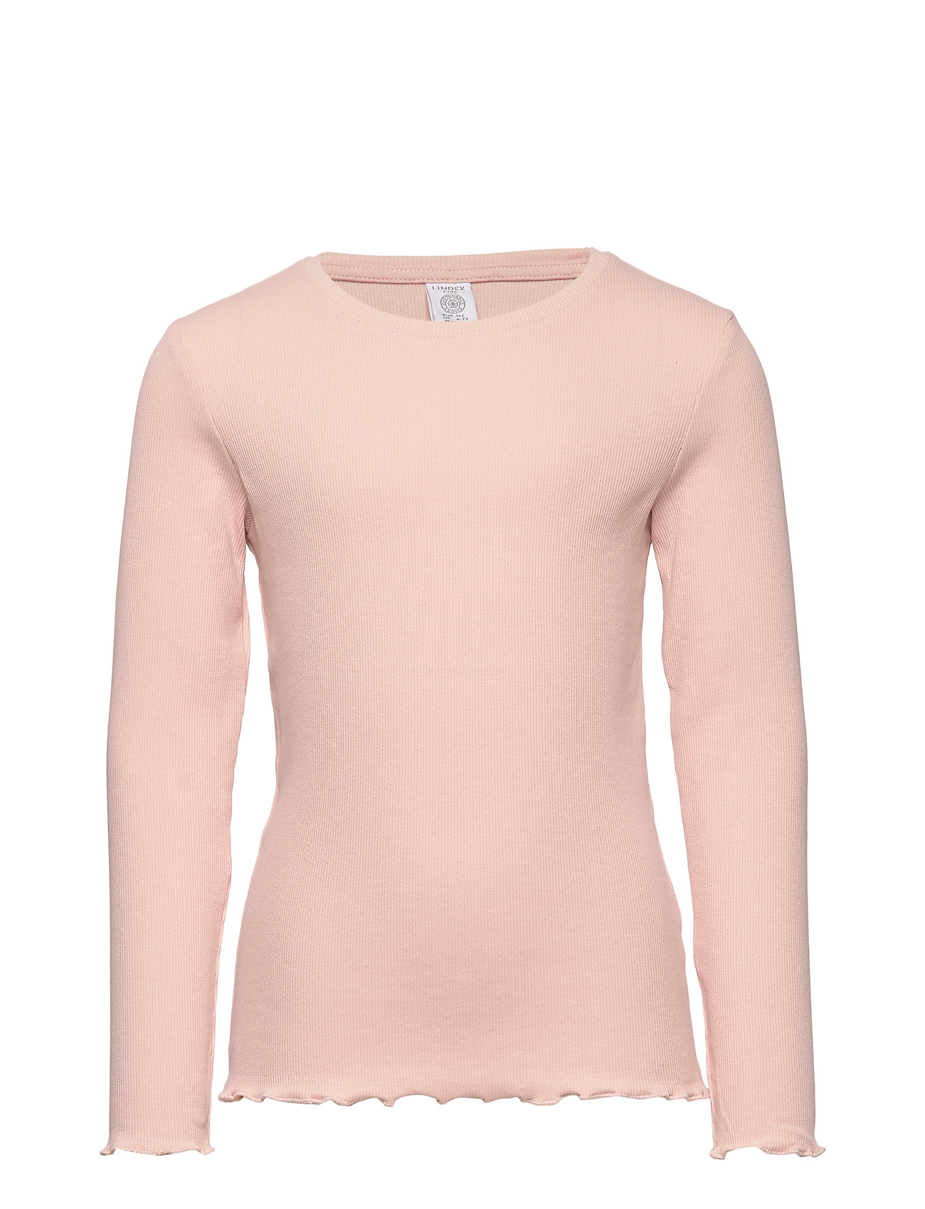 Lindex Ribbed long sleeve top - DUSTY PINK