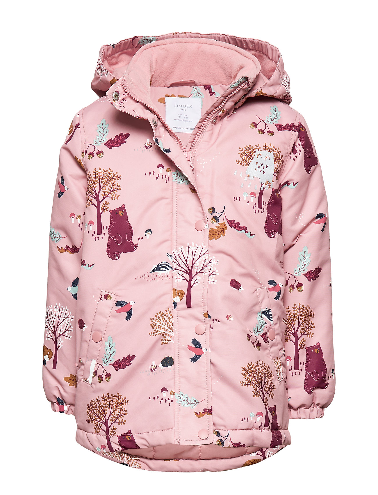 Lindex Padded pink jacket with pattern - DUSTY PINK