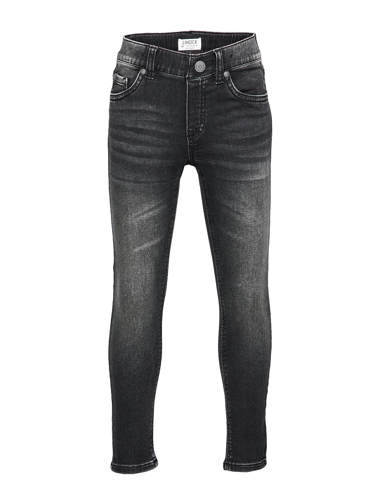 Trousers Denim Jersey Slim Jim Jeans Sort Lindex