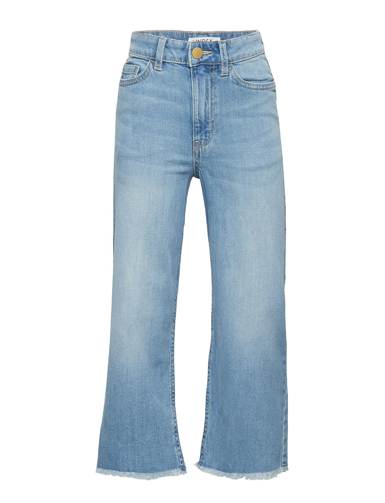 Lindex Light blue narrow wide cropped jeans - MEDIUM DENIM