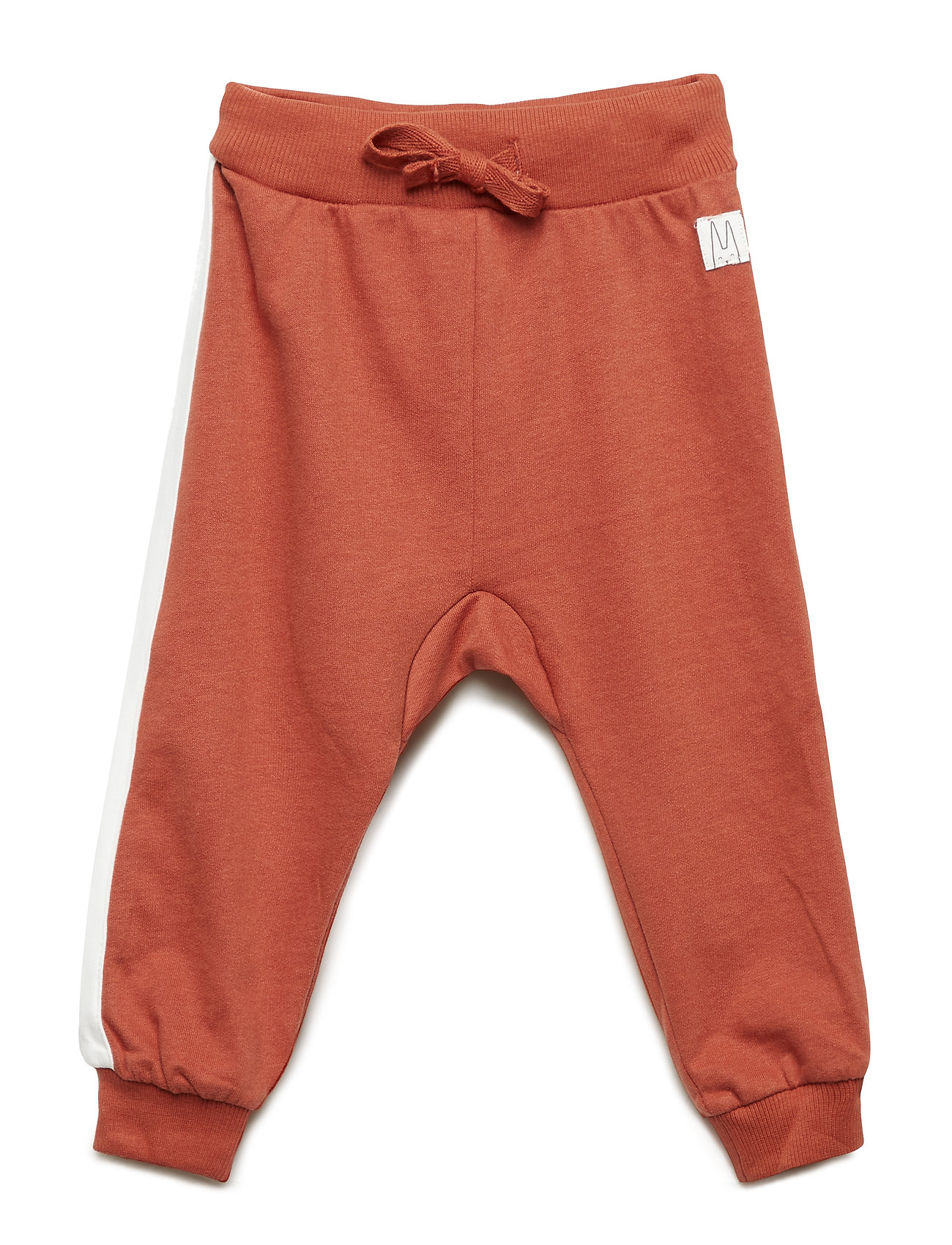 Lindex Sweatpants with white side stripes - DUSTY RED