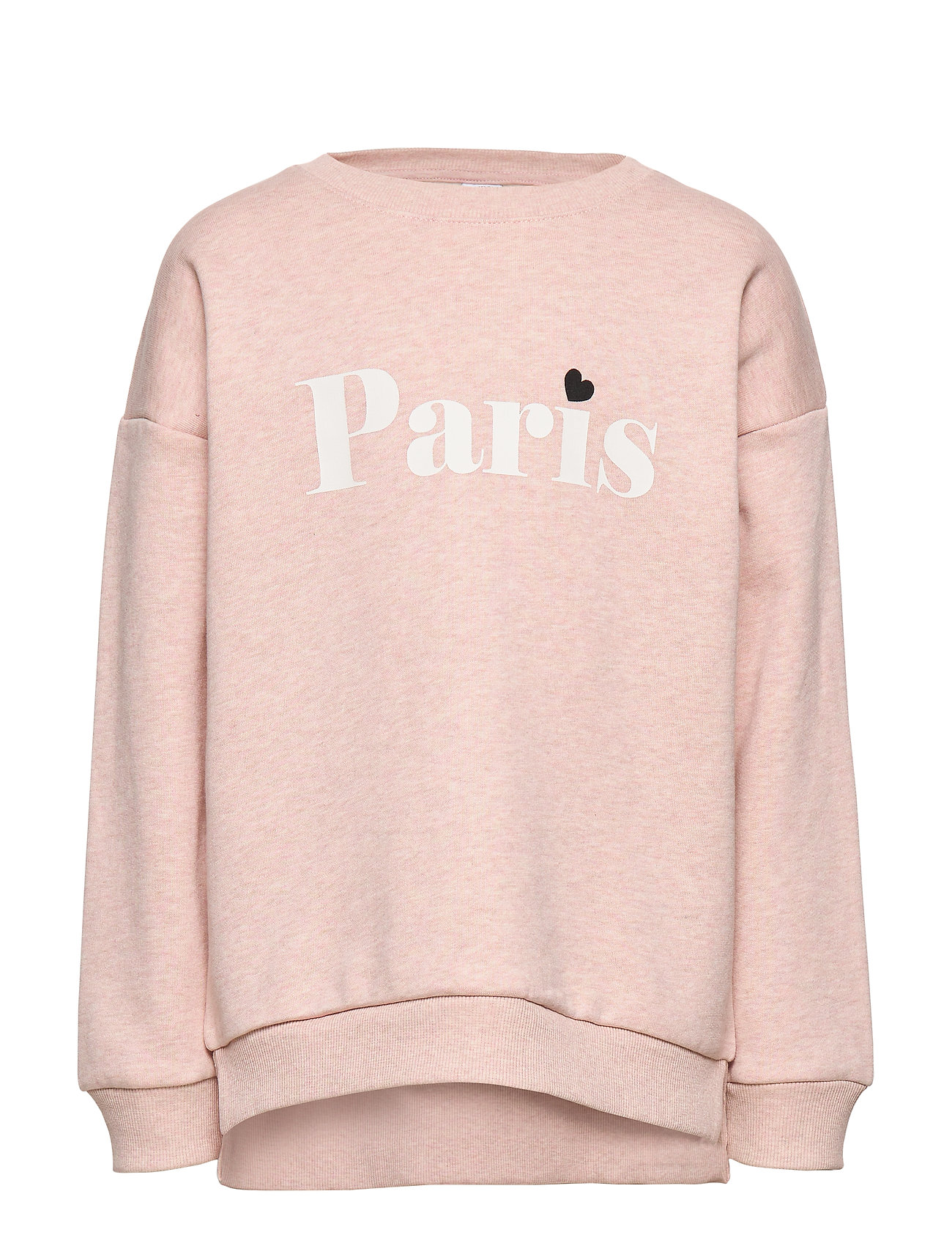 Lindex Sweatshirt with text and brushed inside - DUSTY PINK