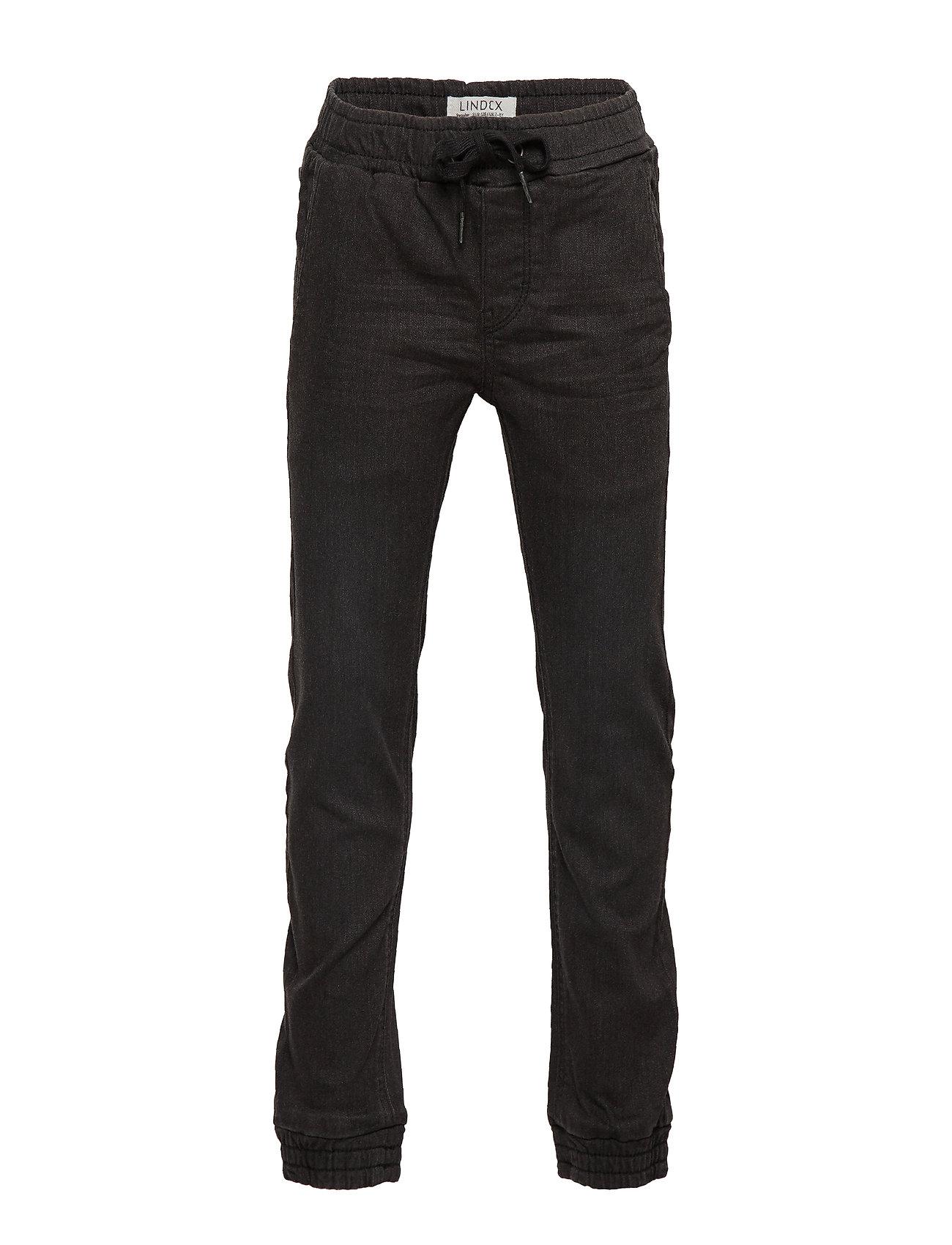 Lindex Trousers Reg jogger cordura bl - BLACK