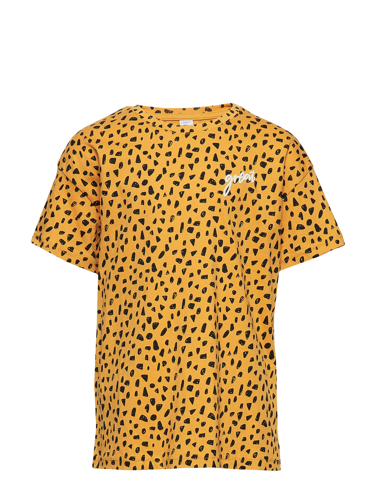 Lindex Oversized short sleeve t-shirt with pattern - DK YELLOW