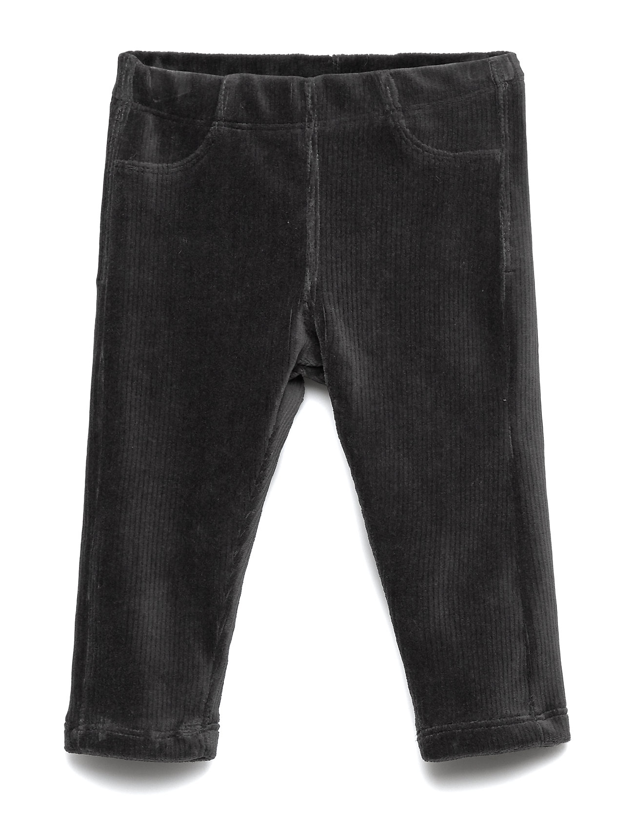 Lindex Treggings jersey cord solid - OFFBLACK