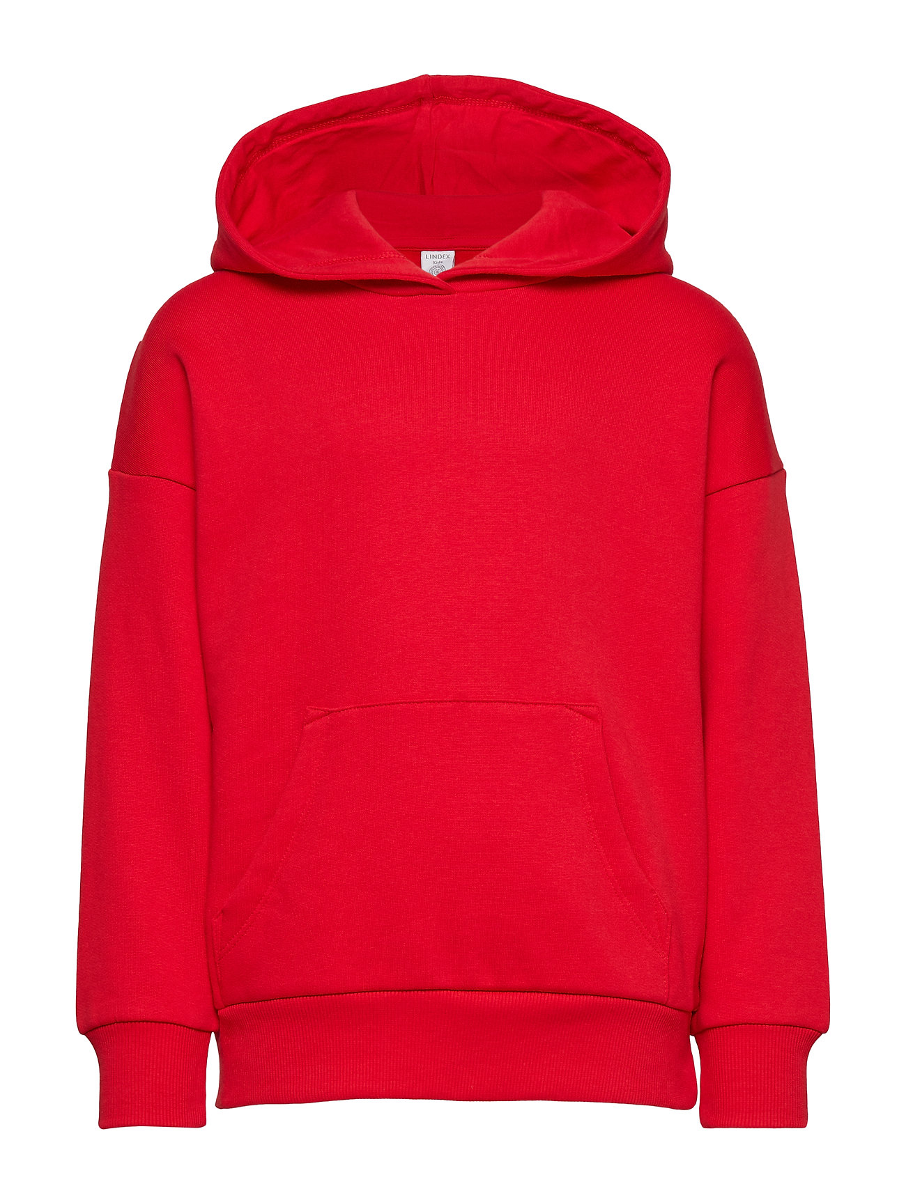 Lindex Hooded sweater with brushed inside - RED