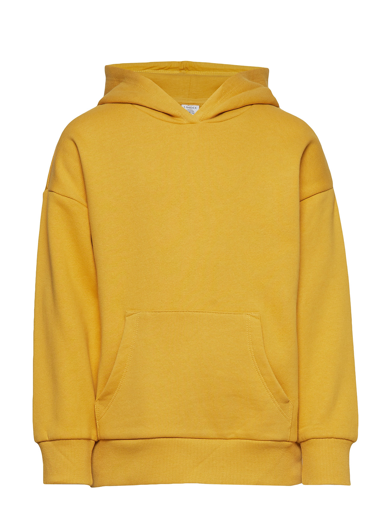 Lindex Hooded sweater with brushed inside - YELLOW