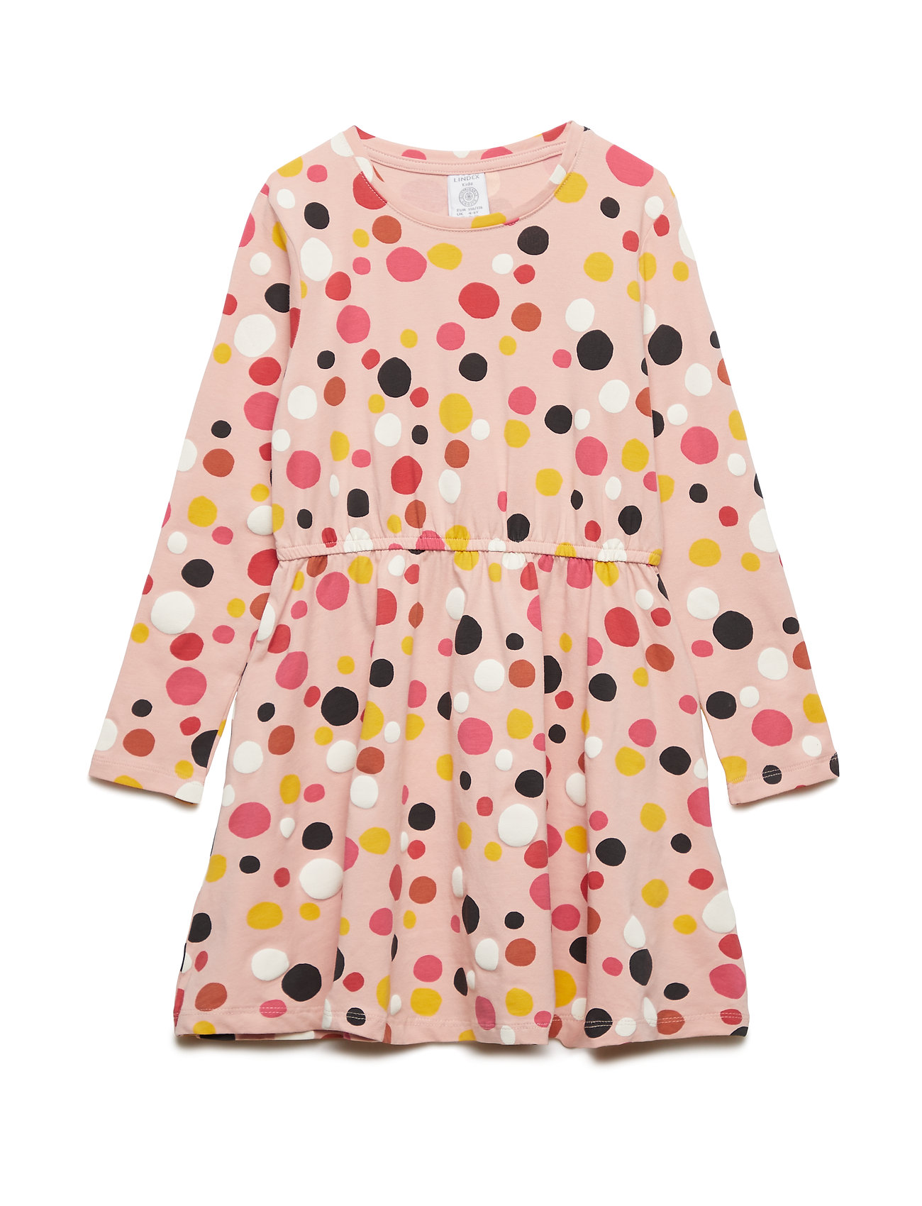 Lindex Long sleeve jersey dress with dots - OFF WHITE