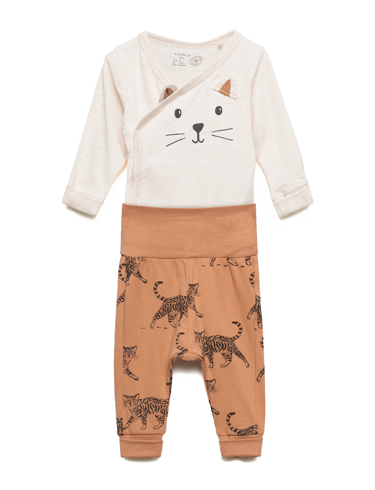 Lindex Set wrapbody trousers cat - LIGHT BEIGE MELANGE