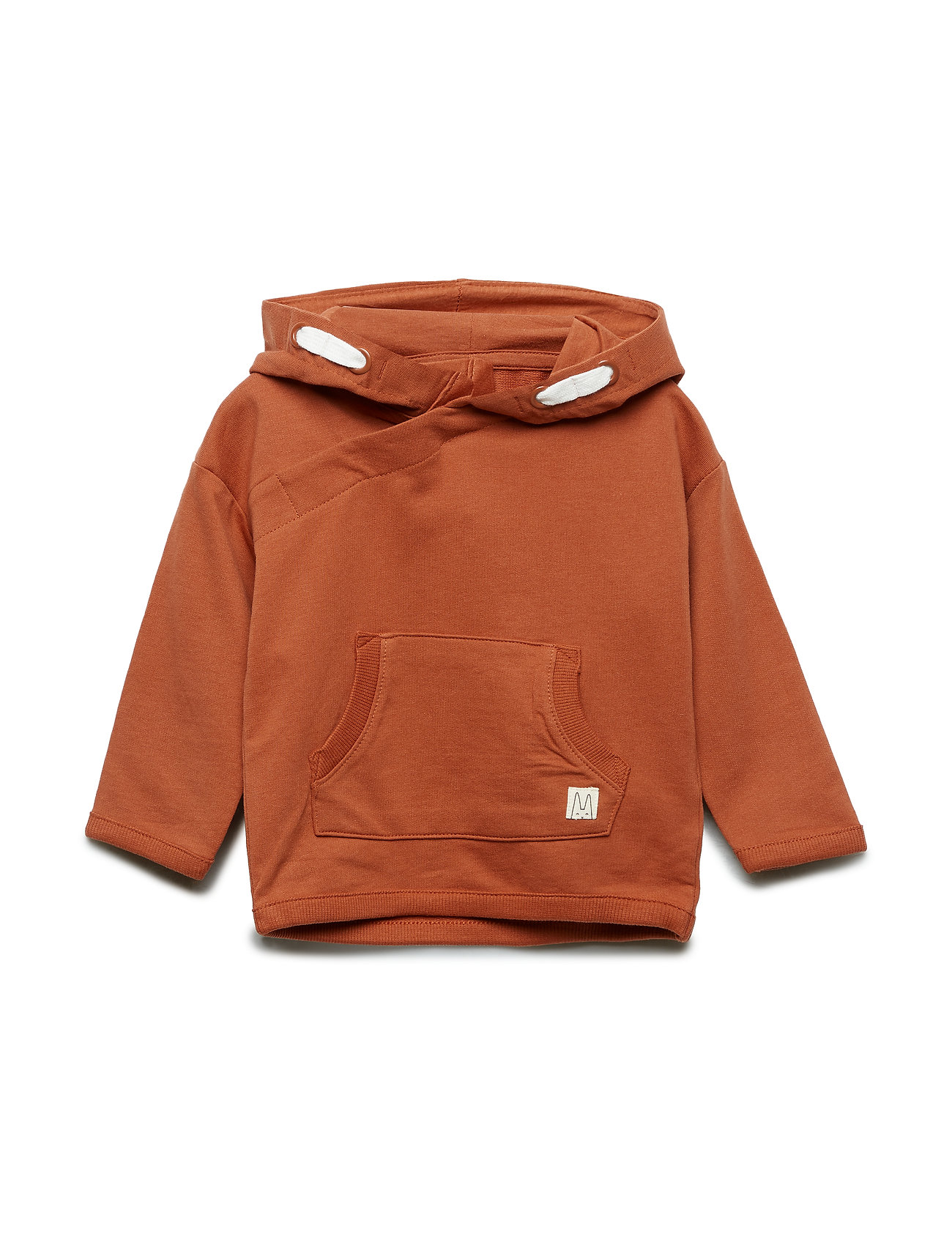 Lindex Hooded sweatshirt with double pocket - DUSTY RED
