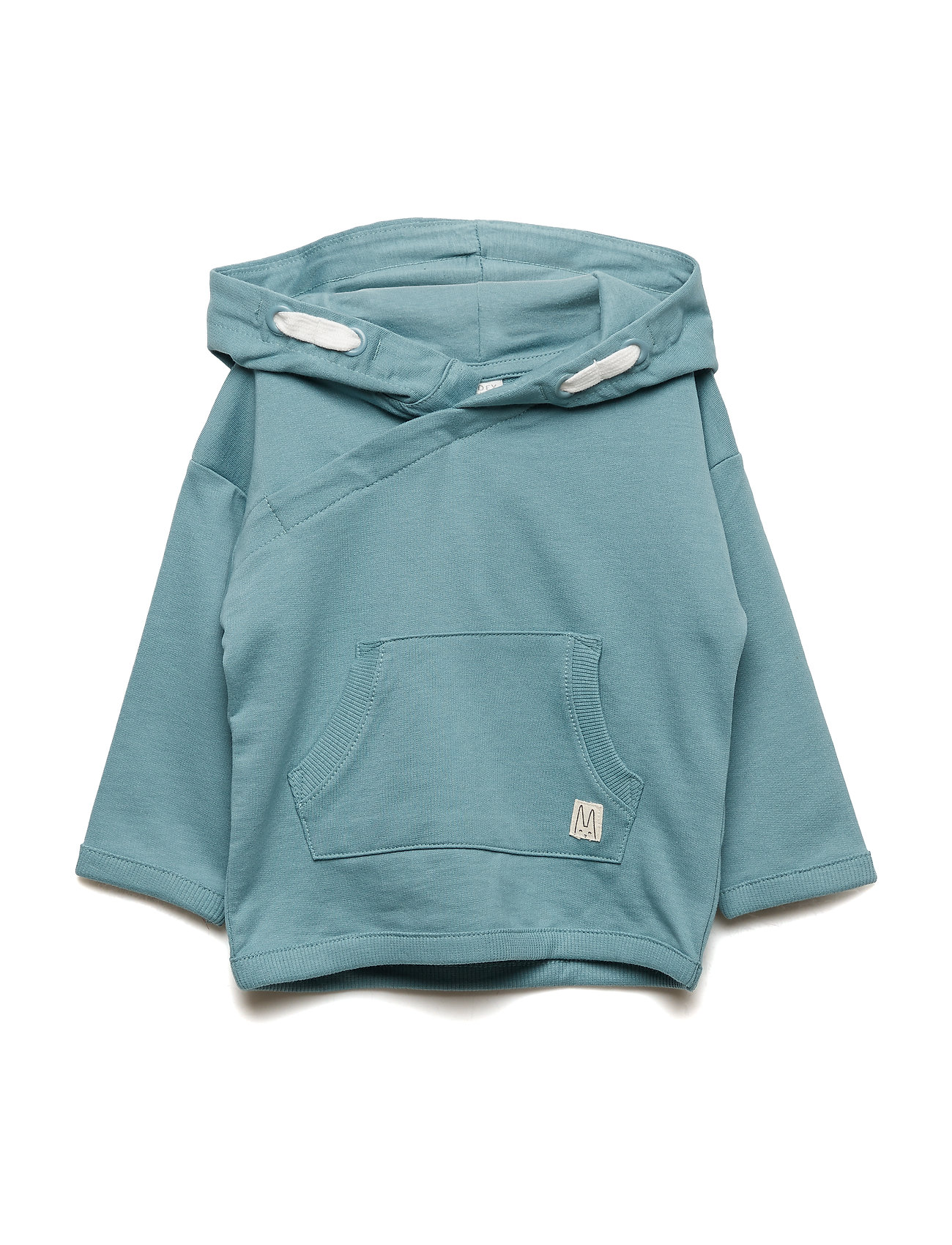 Lindex Hooded sweatshirt with double pocket - DUSTY TURQUOISE