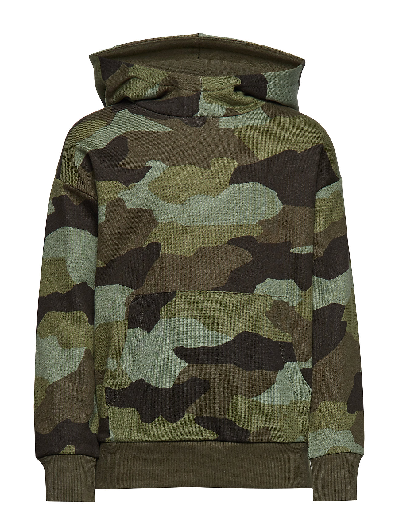 Lindex Oversized hooded sweater with camouflage pattern - DK KHAKI GREEN