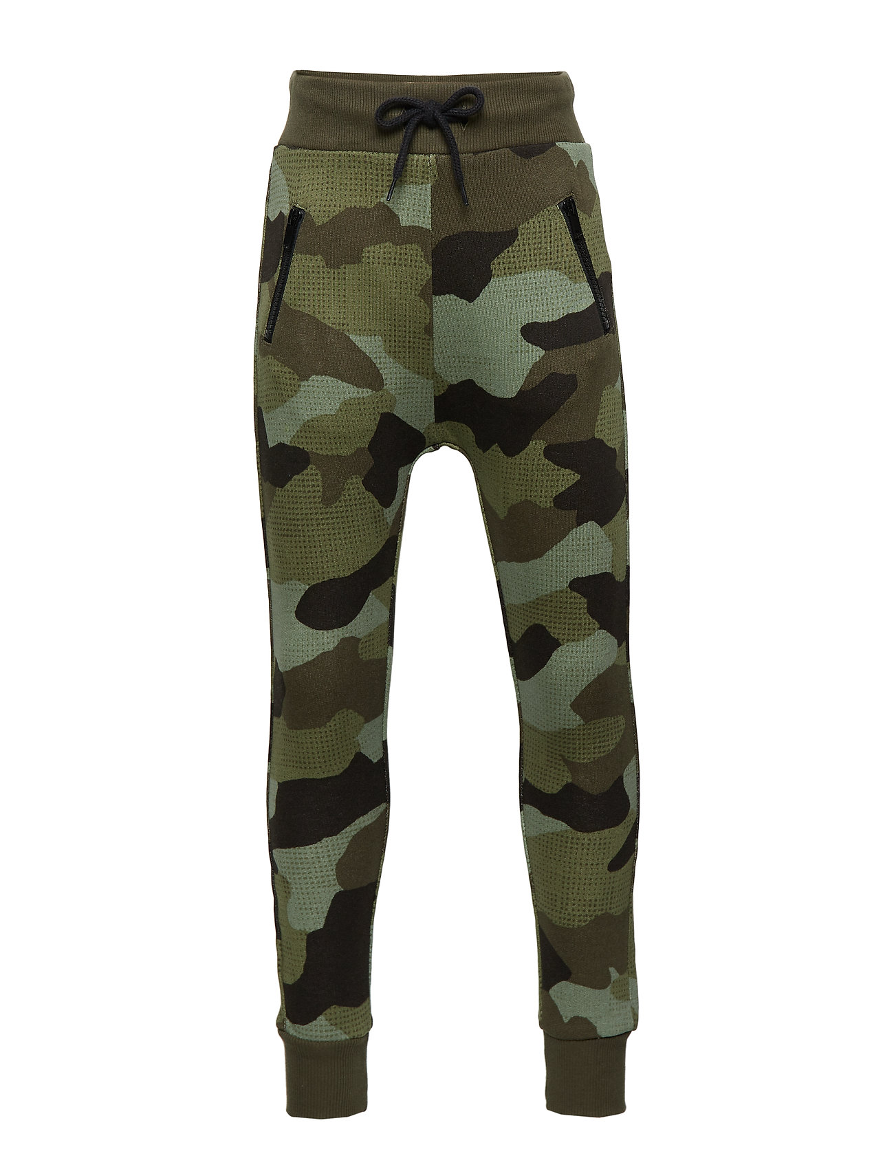 Lindex Sweatpants with camouflage pattern - DK KHAKI GREEN