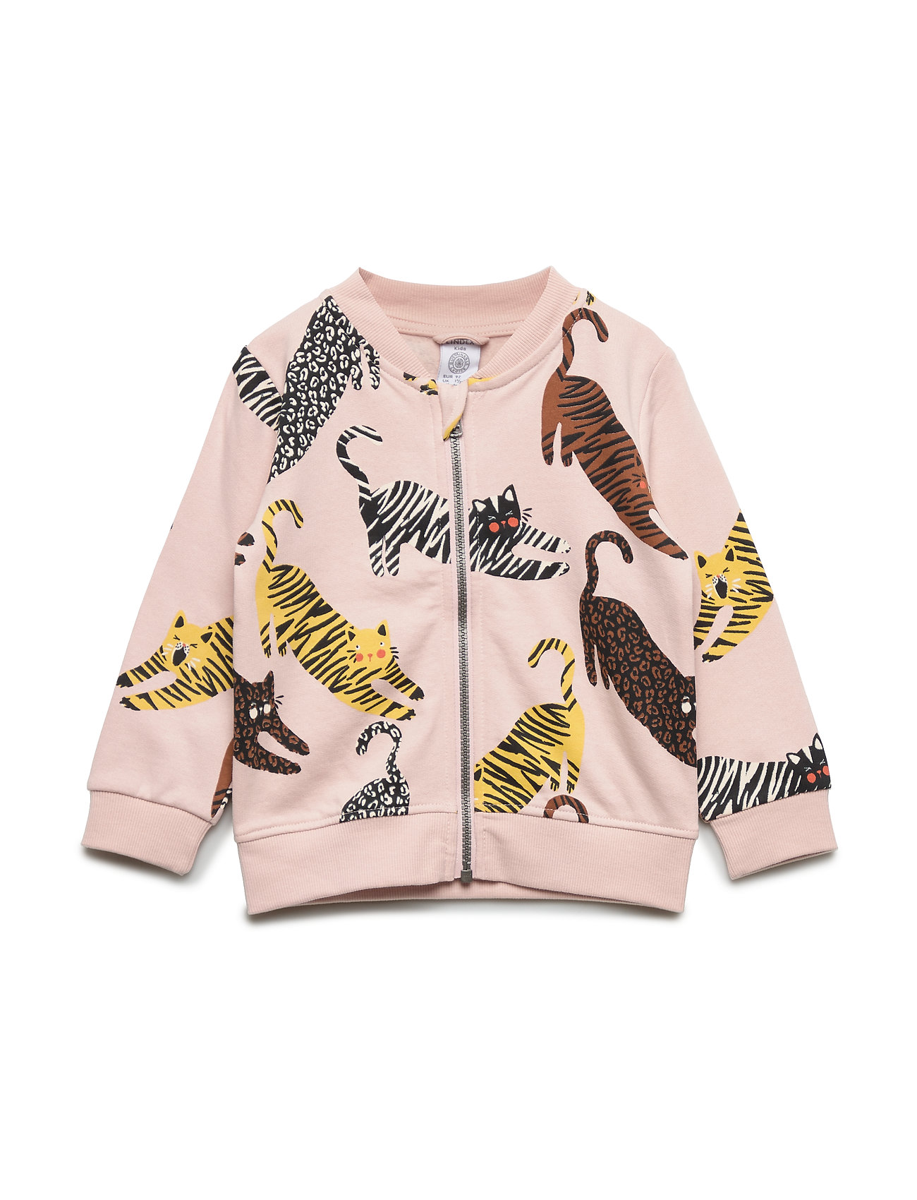 Lindex Pink soft bomber jacket with cats - DUSTY PINK