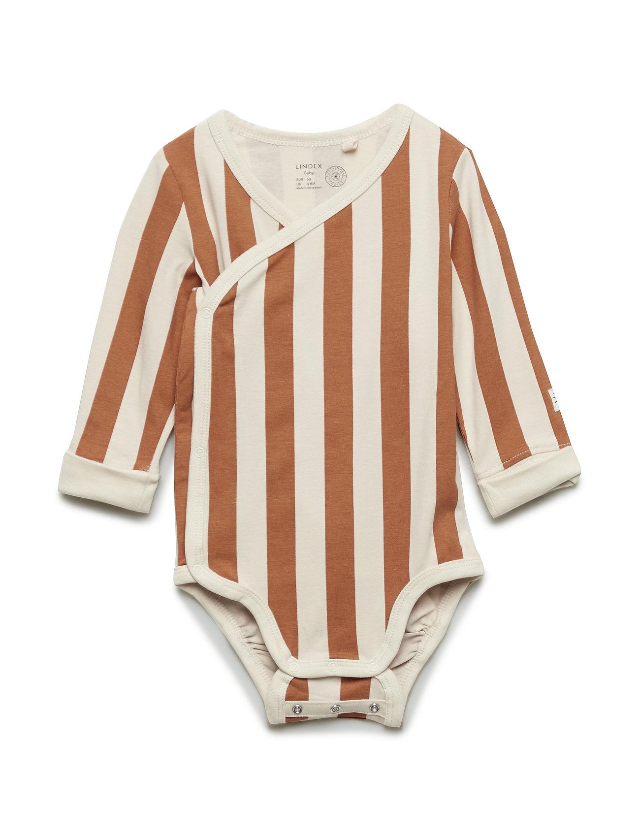 Lindex Body Wrap Block stripe - BROWN
