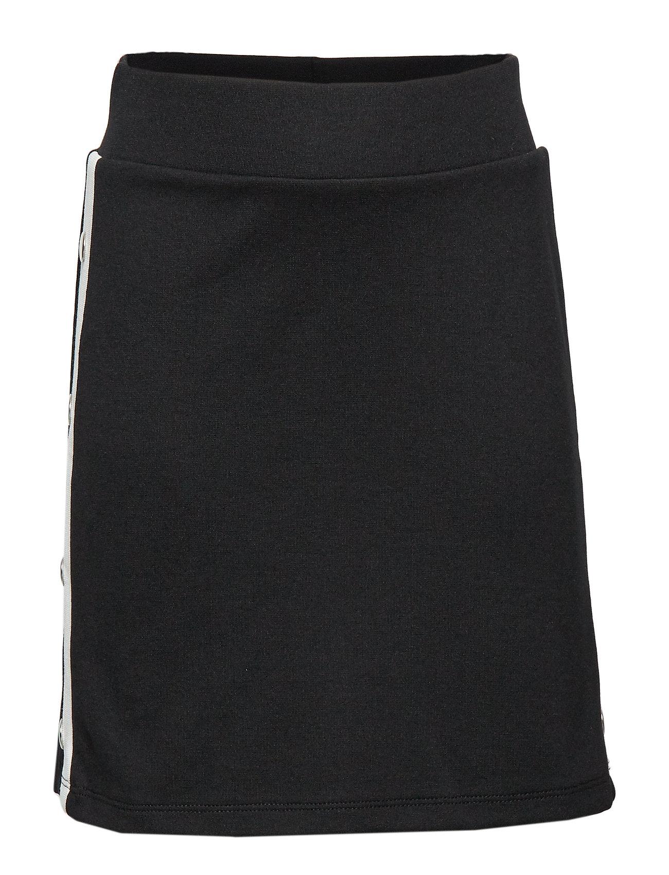 Lindex Black jersey skirt with white side stripes - BLACK