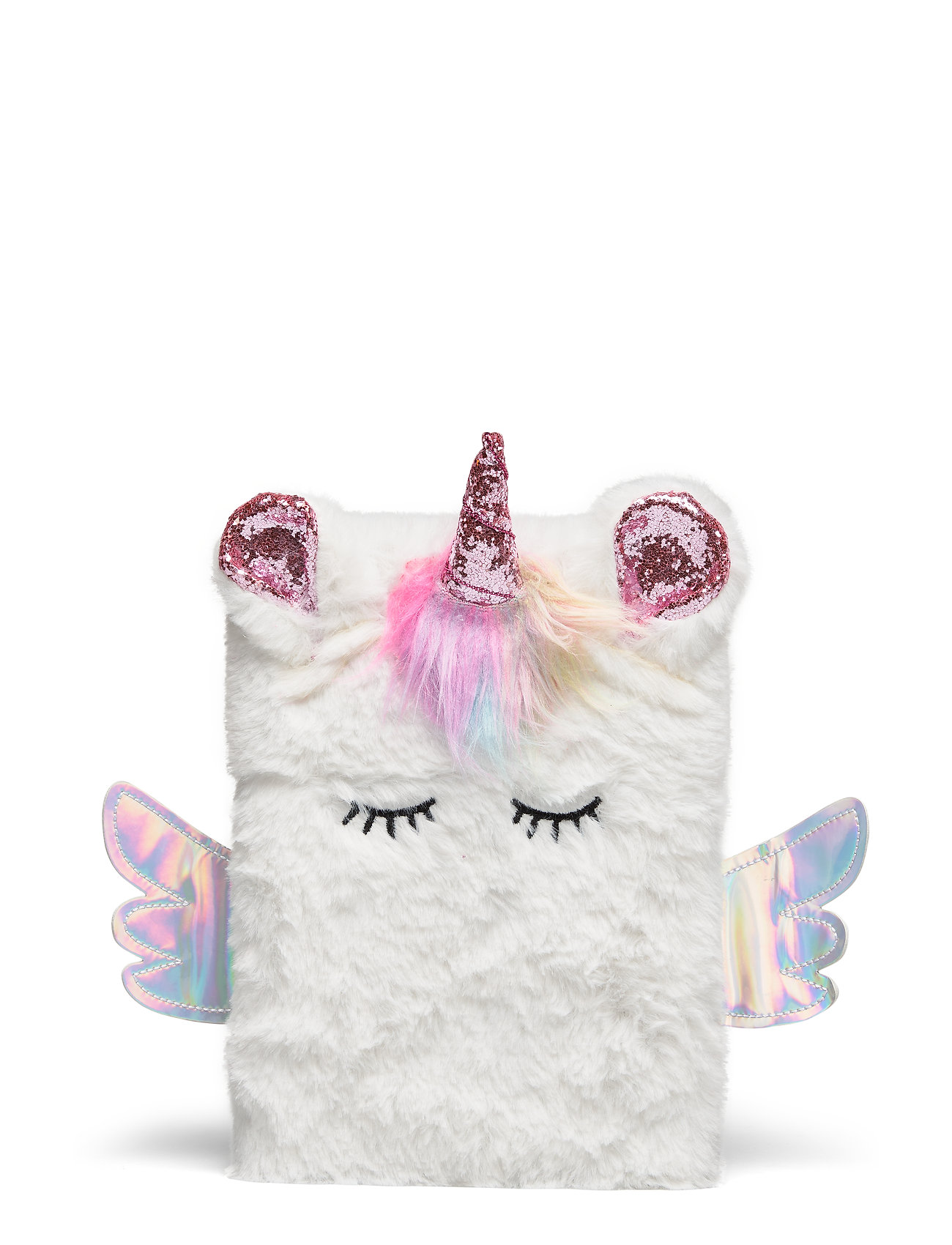 Lindex Notebook unicorn fur - WHITE