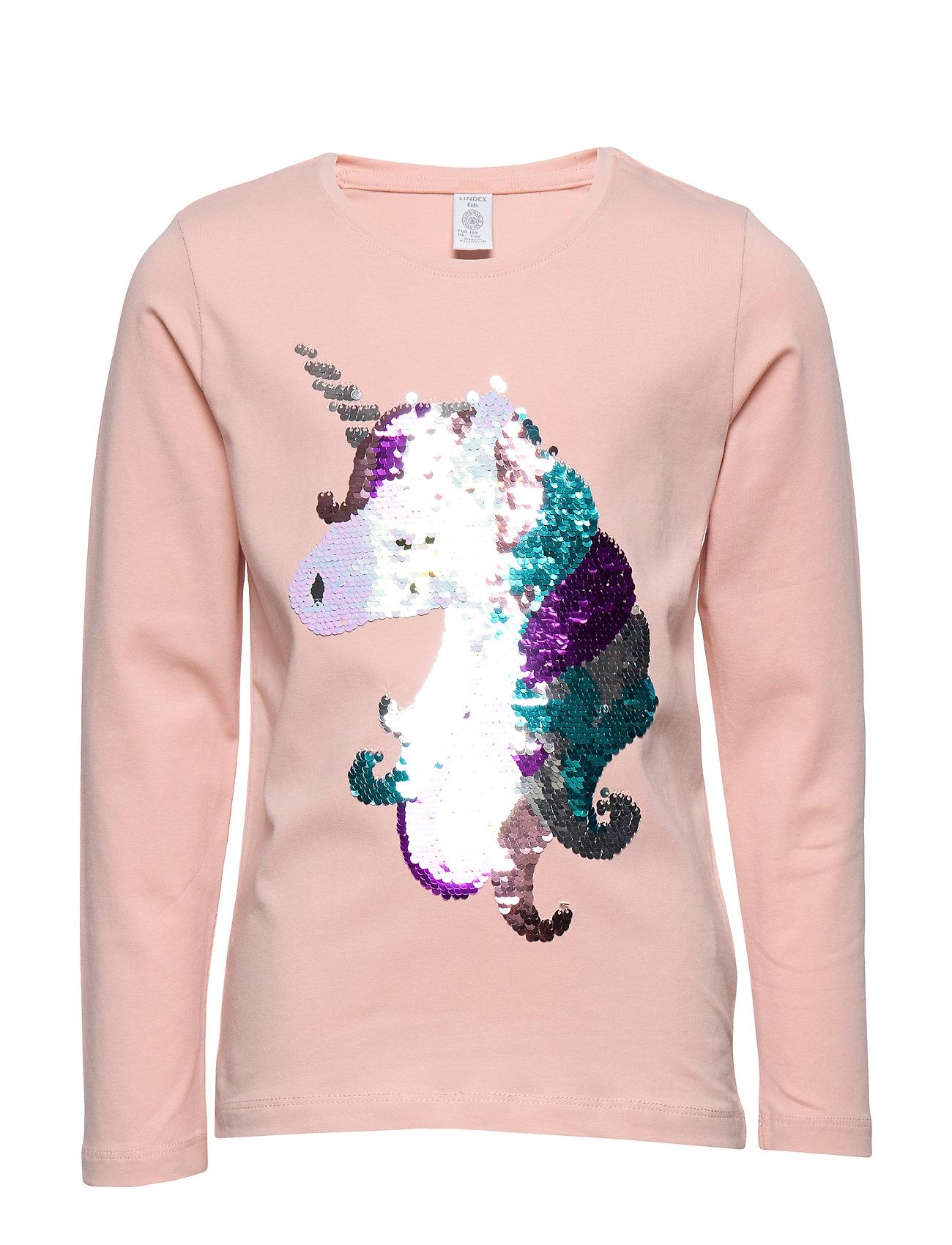 Lindex Top unicorn - LIGHT PINK