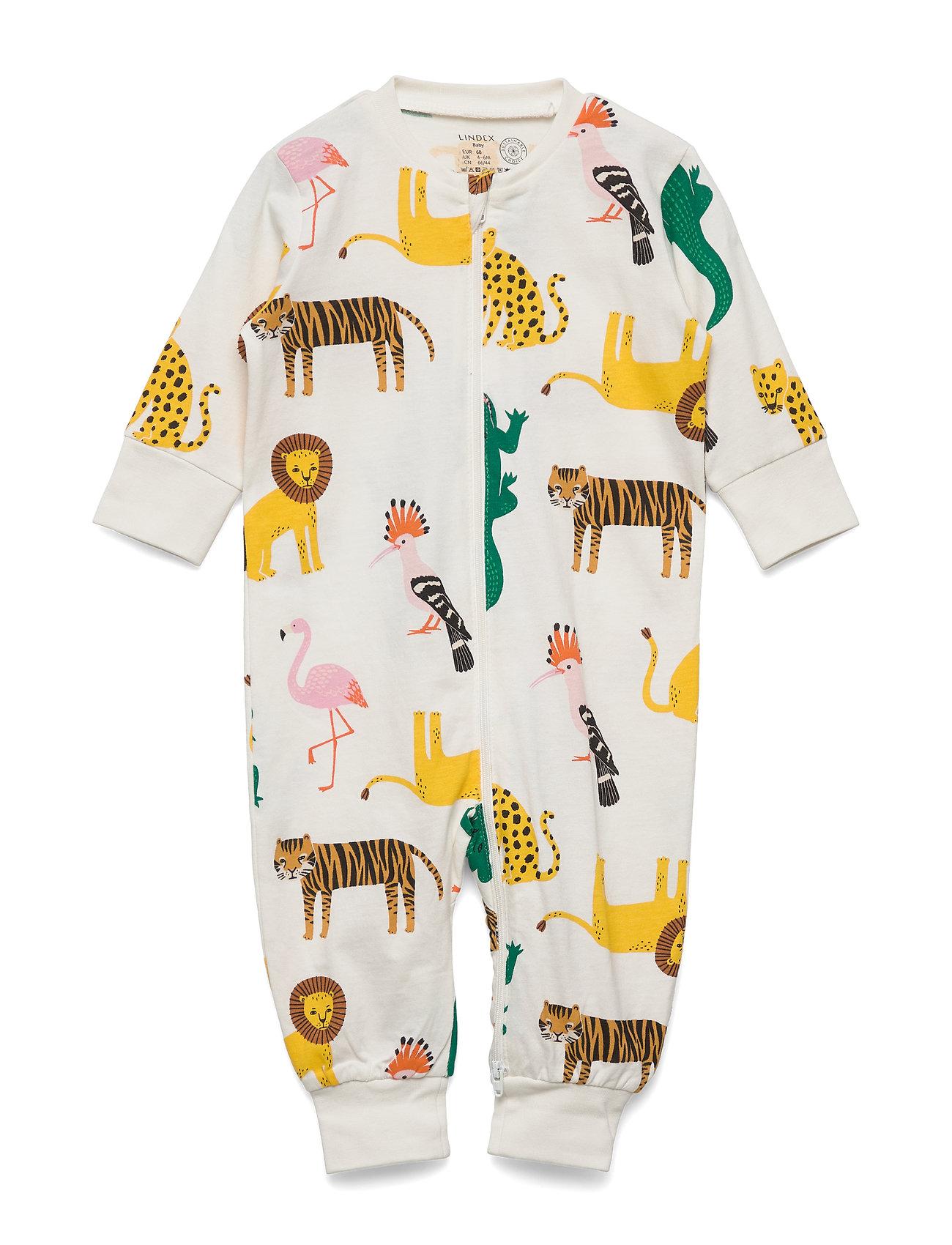 Lindex Pyjamas Lion Croco   friends - LIGHT DUSTY WHITE