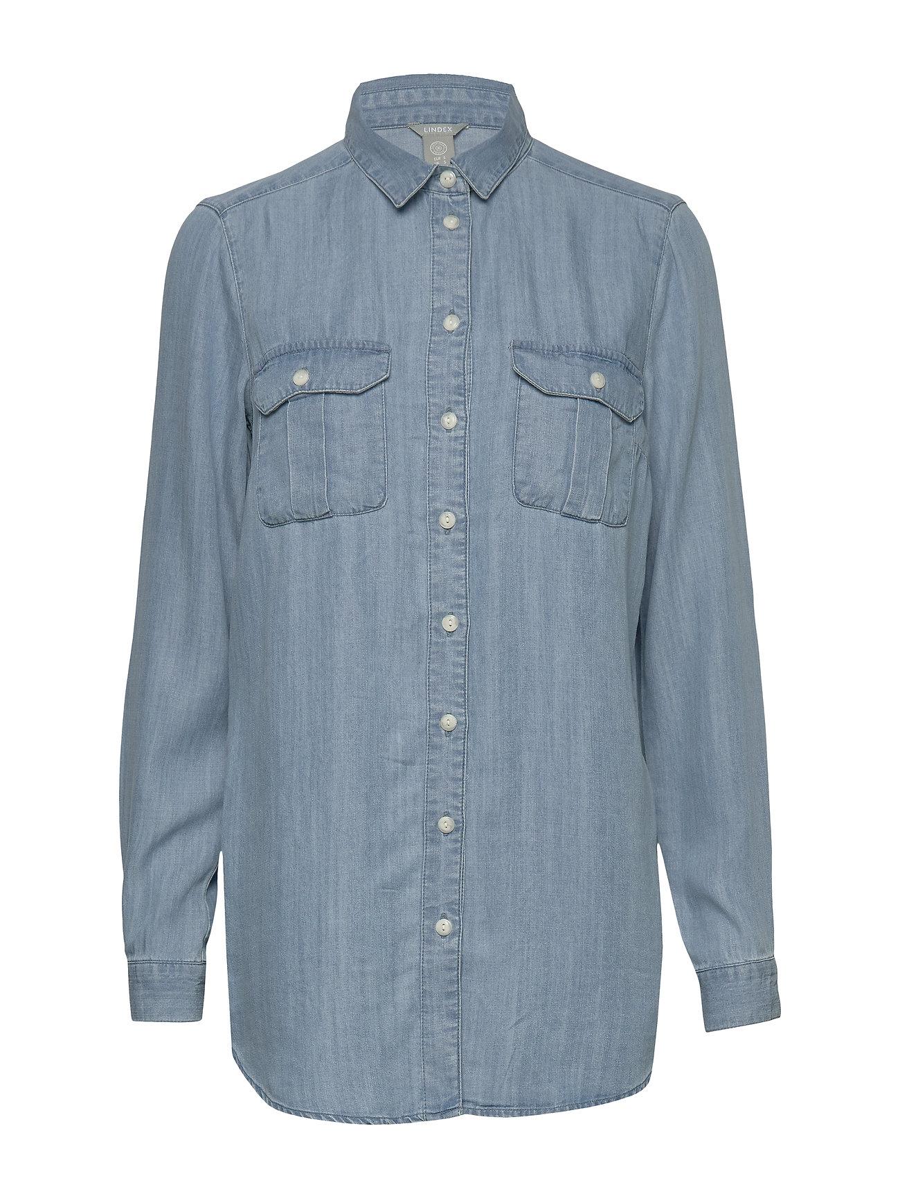 Lindex Shirt Zola denim - DENIM BLUE