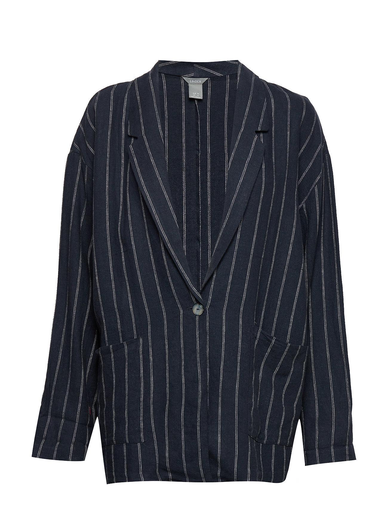 Lindex Jacket Violet linen - DARK BLUE