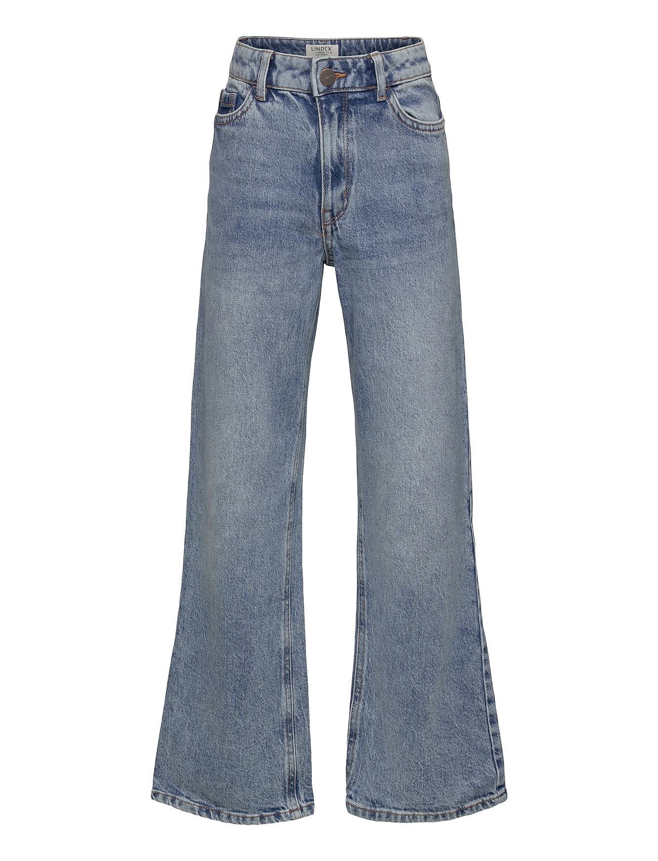 Trousers Denim Vanja Washed Bl Jeans Blå Lindex
