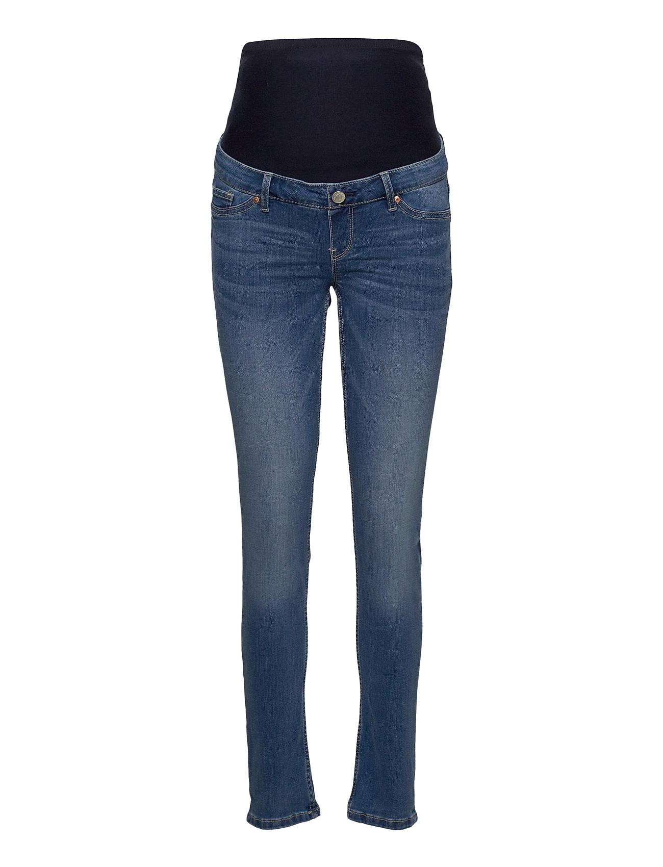 Trs Denim Mom Tova Soft Blue Slim Jeans Blå Lindex
