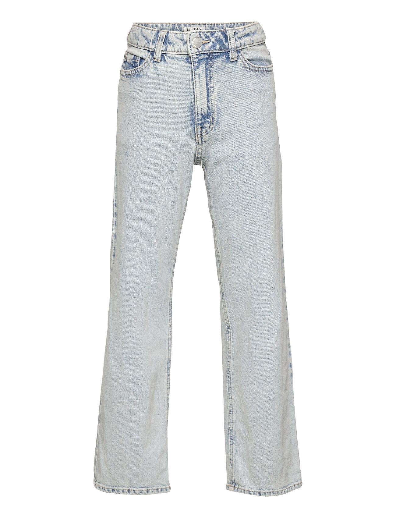 Trousers Denim Vanja Acid Wide Jeans Blå Lindex