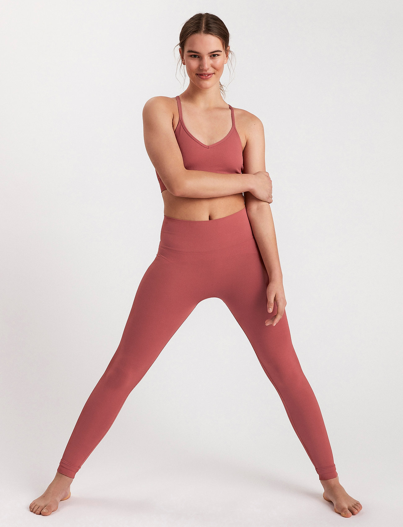 Lindex - Leggings Ella Seamless - leggings - pink - 4