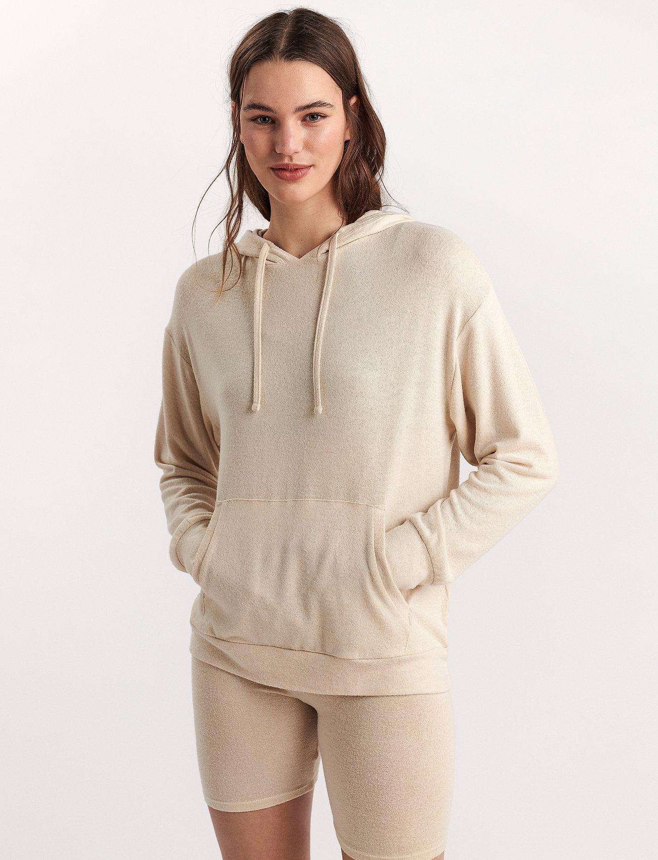 Lindex - Lounge Top Hood Felicity - hættetrøjer - white - 0