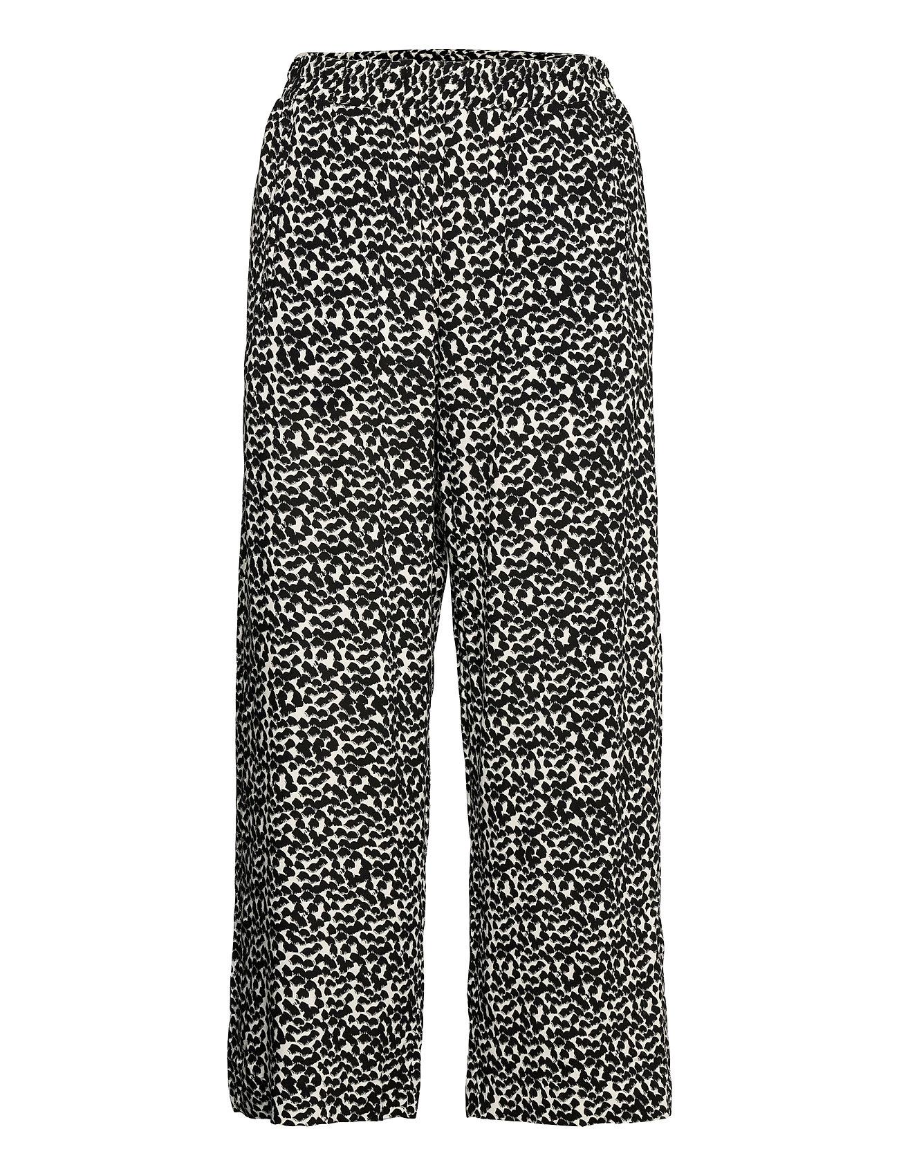 Trousers Bella Aop Casual Bukser Beige Lindex