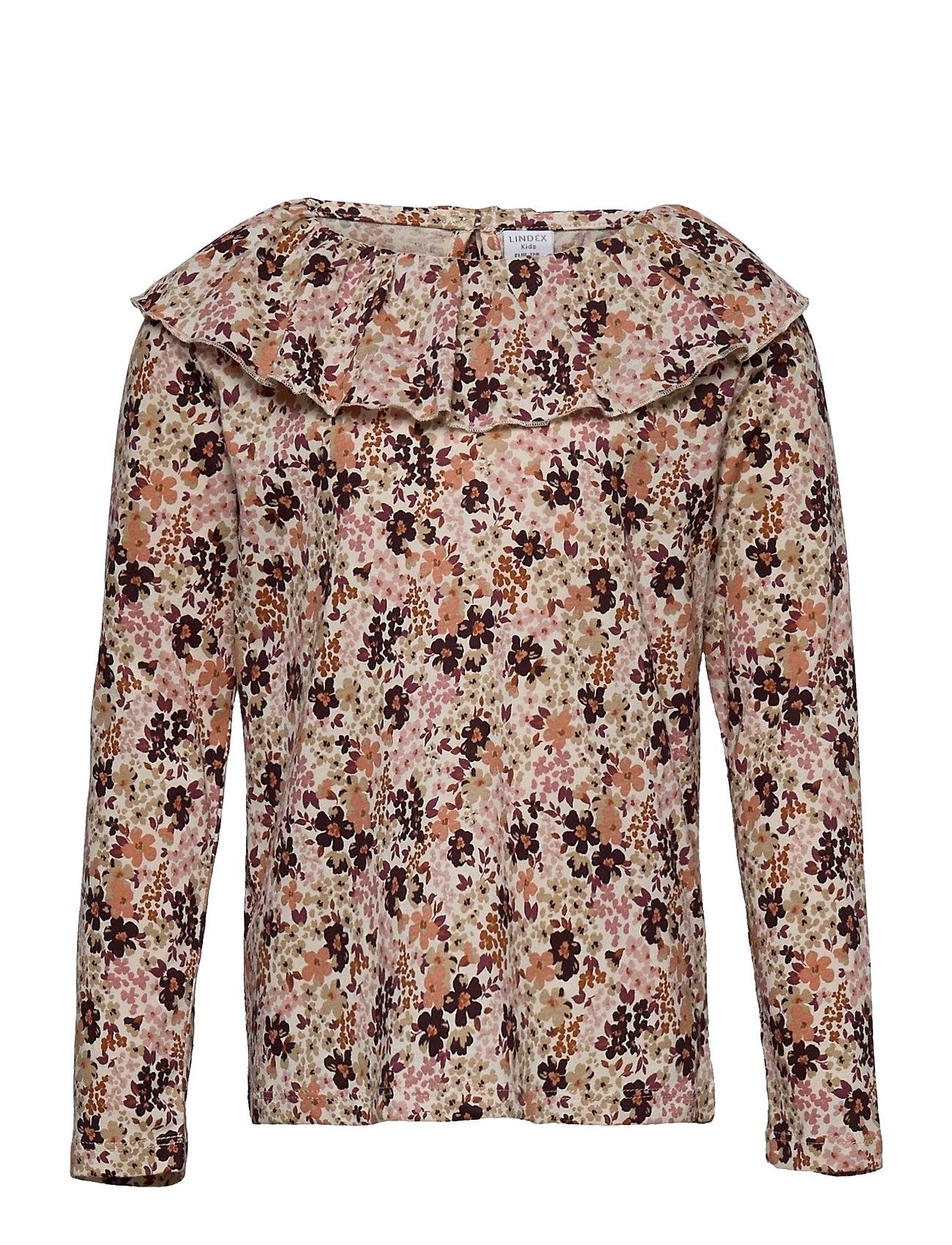 Top Big Collar Langærmet T-shirt Brun Lindex