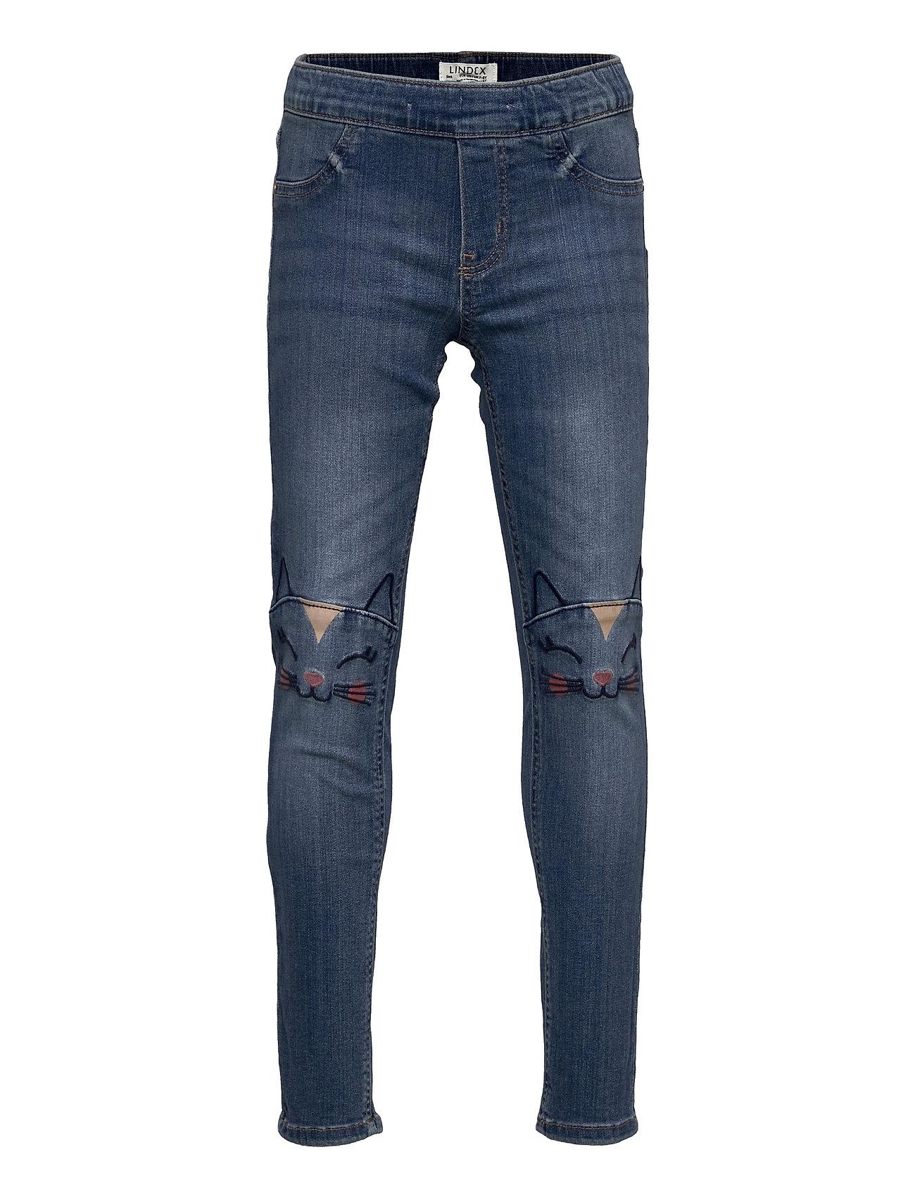 Trousers Denim Sara Playful Jeans Blå Lindex