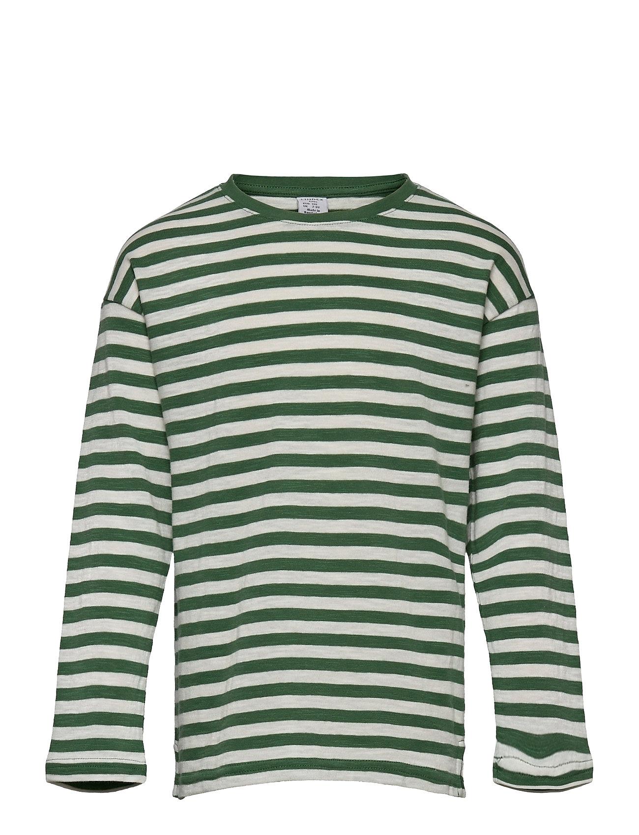 Top Ls Essential Stripe Langærmet T-shirt Grøn Lindex