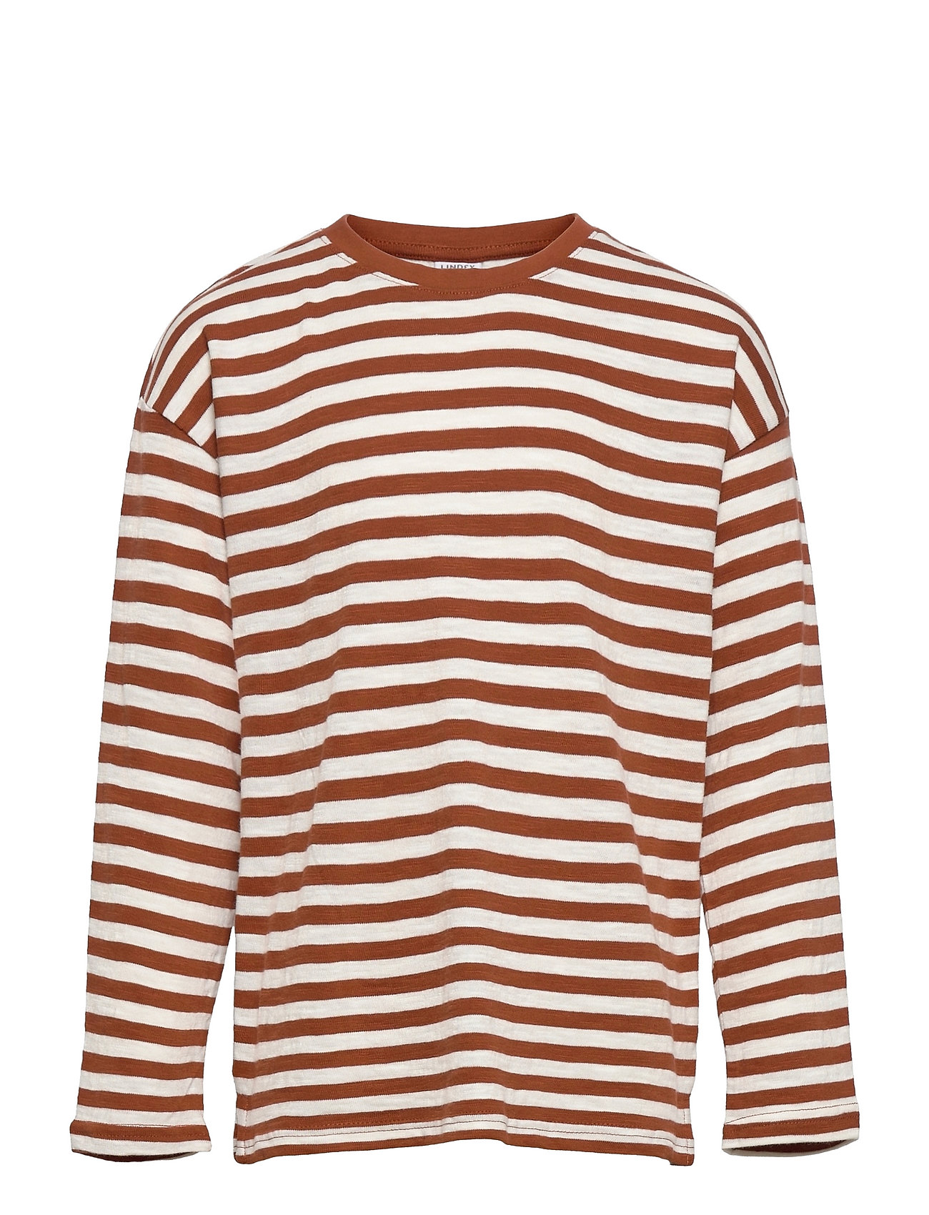 Top Ls Essential Stripe Langærmet T-shirt Orange Lindex
