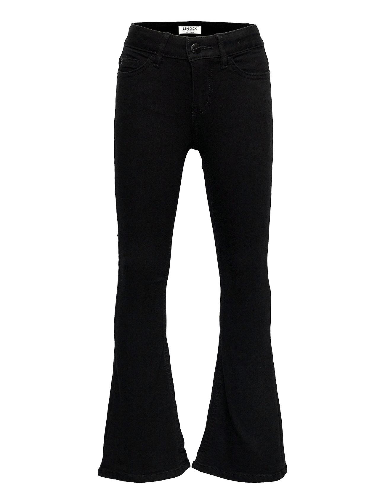 Trousers Denim Freja Black Fla Jeans Sort Lindex