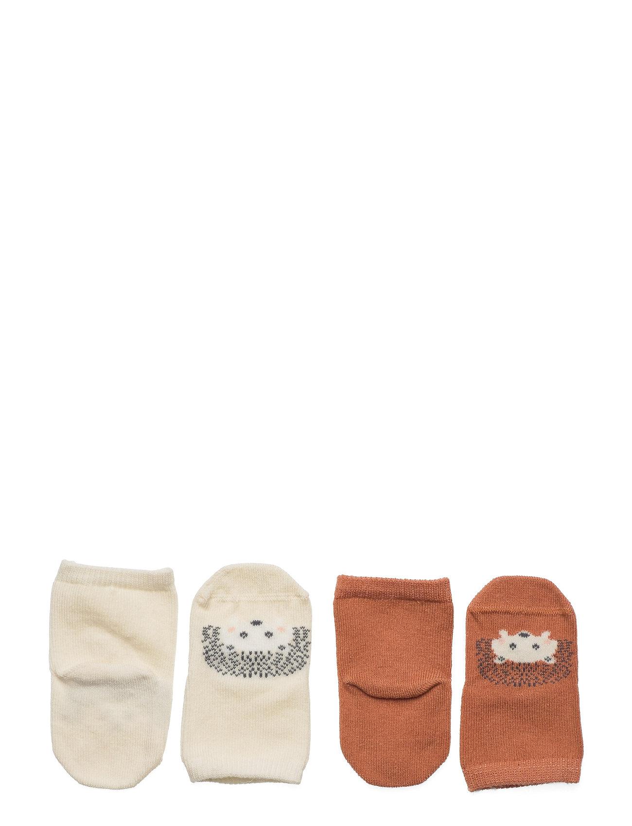 Lindex - Sock 2p Baby hedgehog - skarpetki - brown - 1