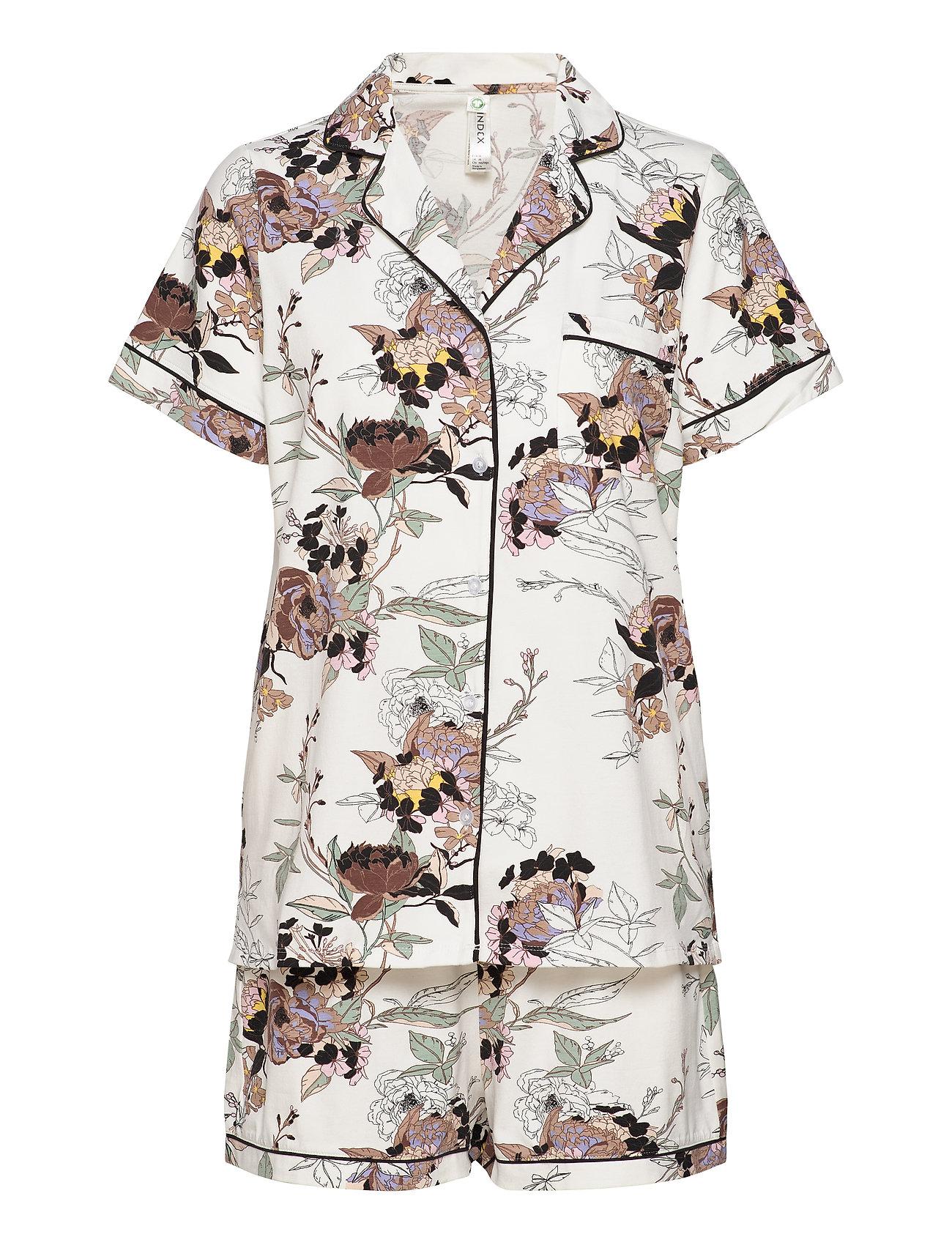 Soft Printed Piping Pj Jersey Pyjamas Nattøj Multi/mønstret Lindex