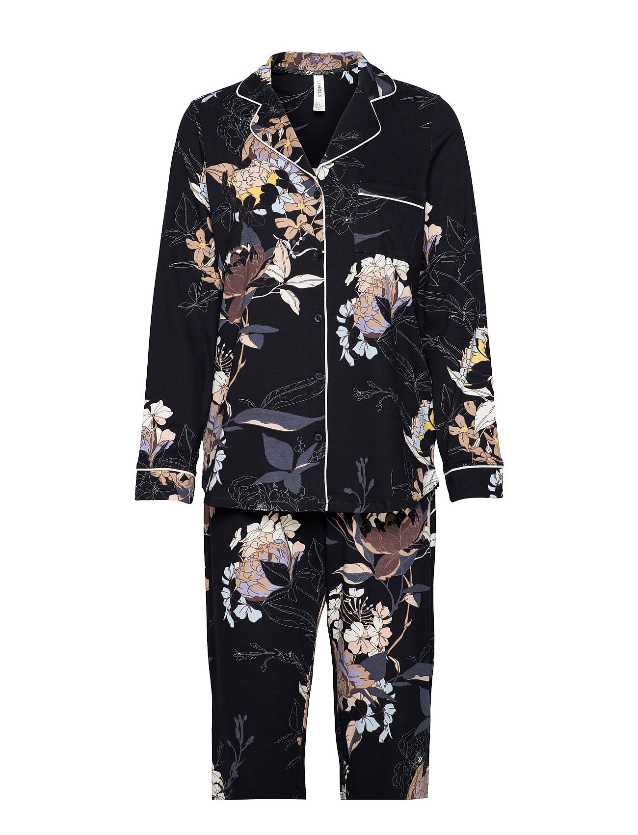 Soft Printed Pipig Pj Jersey C Pyjamas Nattøj Blå Lindex