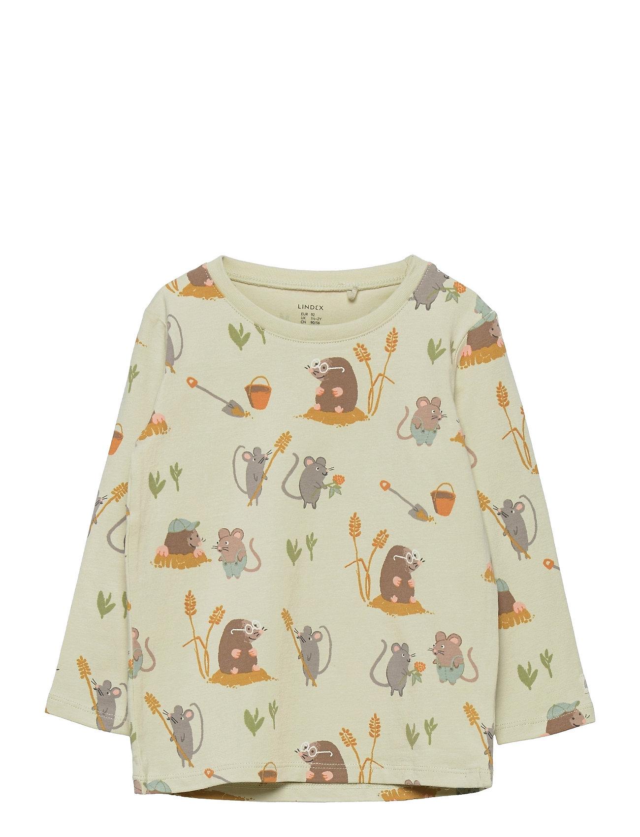 Top Mole And Friends Langærmet T-shirt Gul Lindex