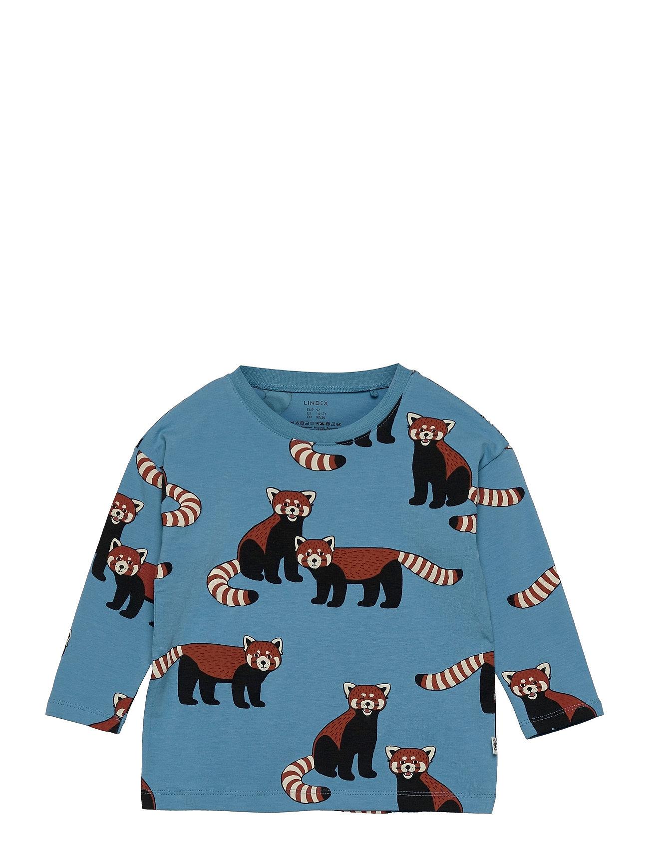 Top Red Panda Aop Langærmet T-shirt Blå Lindex