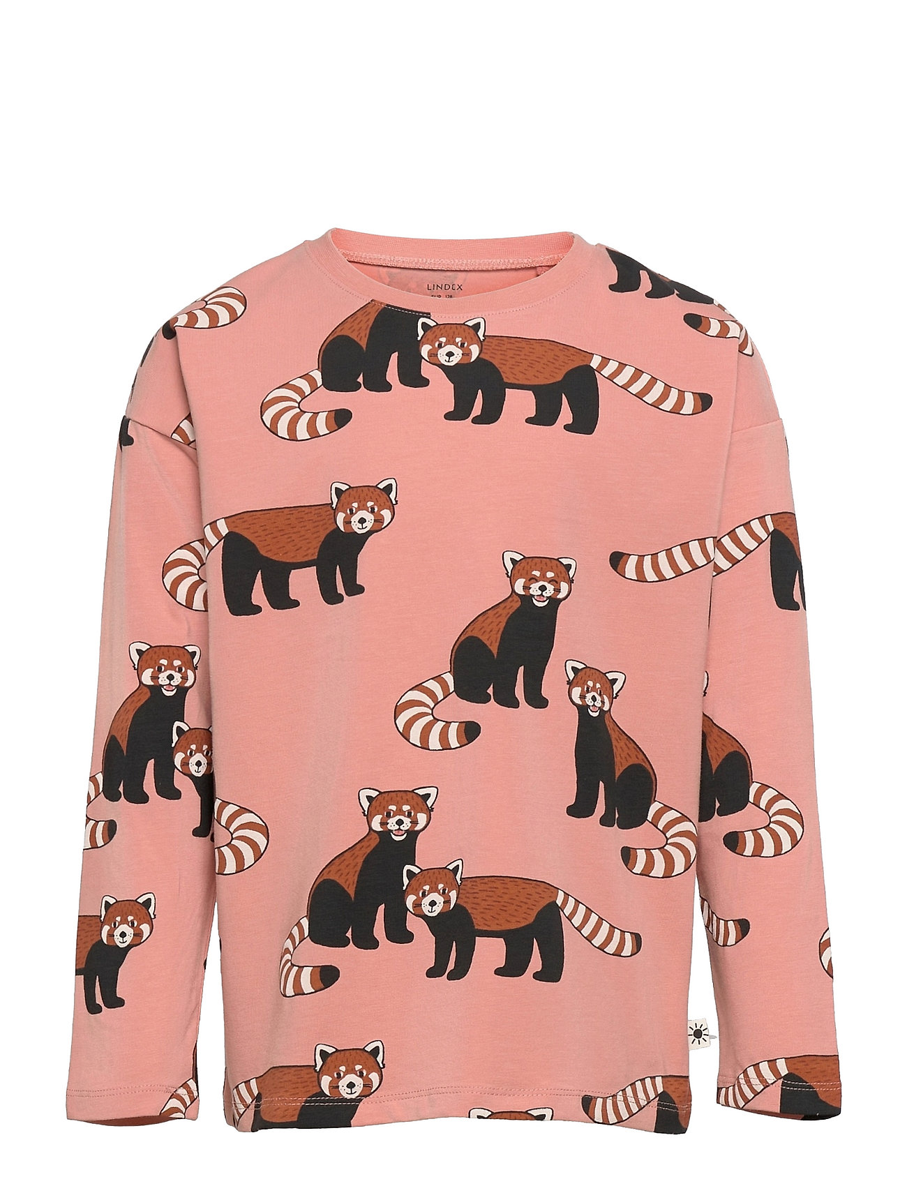 Top Red Panda Aop Langærmet T-shirt Lyserød Lindex