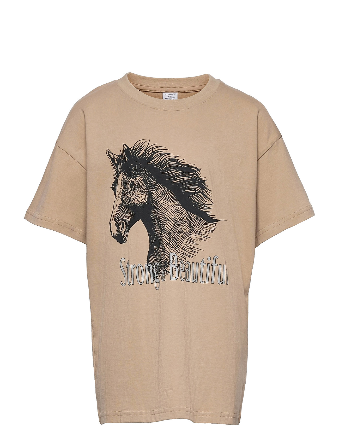 Top Rio With Horse T-shirt Beige Lindex